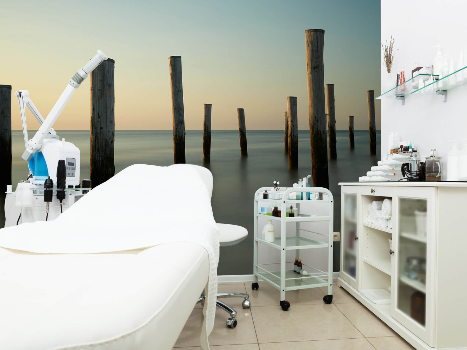 Zeeën en Oceanen - Houten strandpalen - Slaapkamer 9