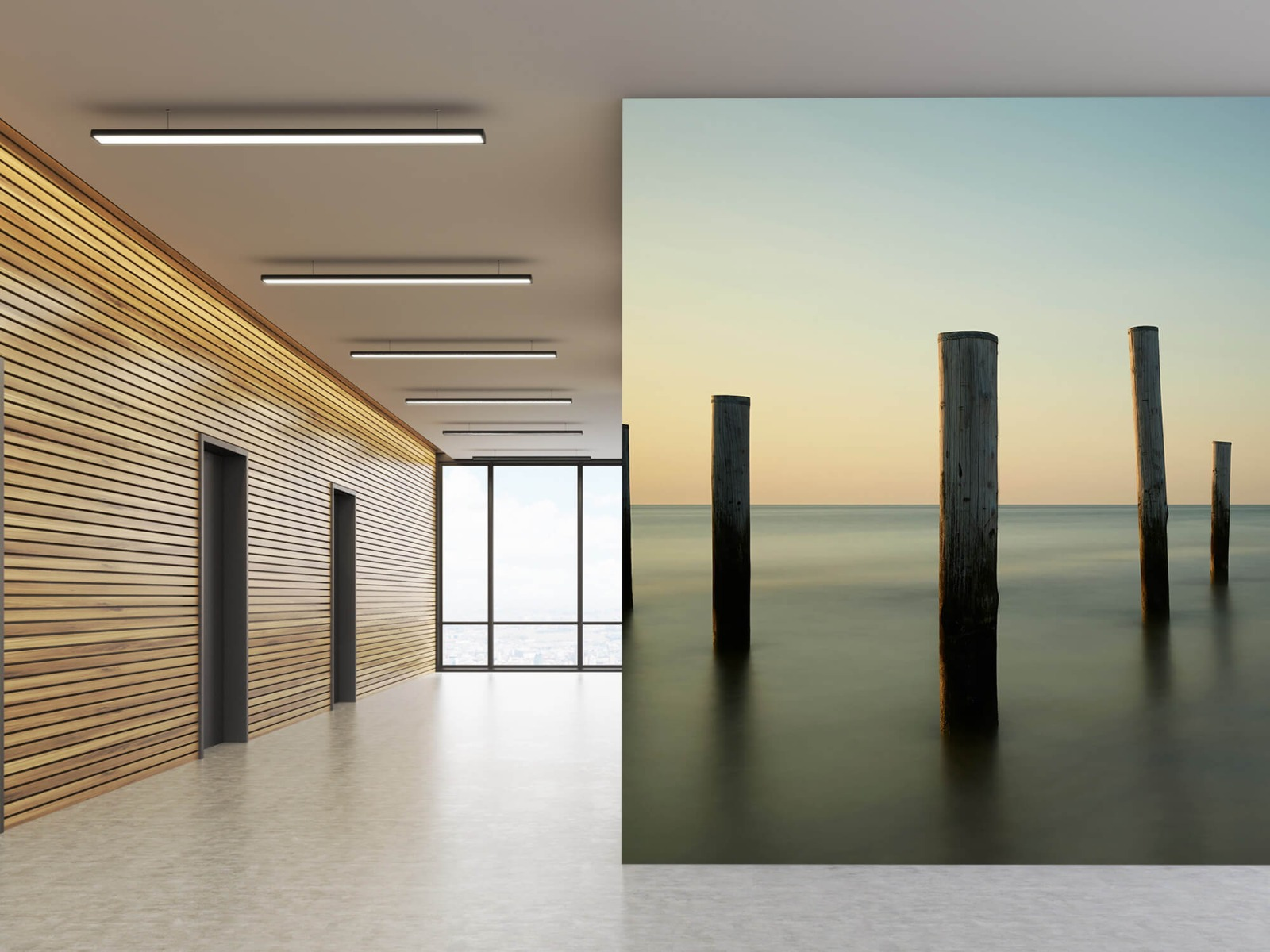 Zeeën en Oceanen - Houten strandpalen - Slaapkamer 10