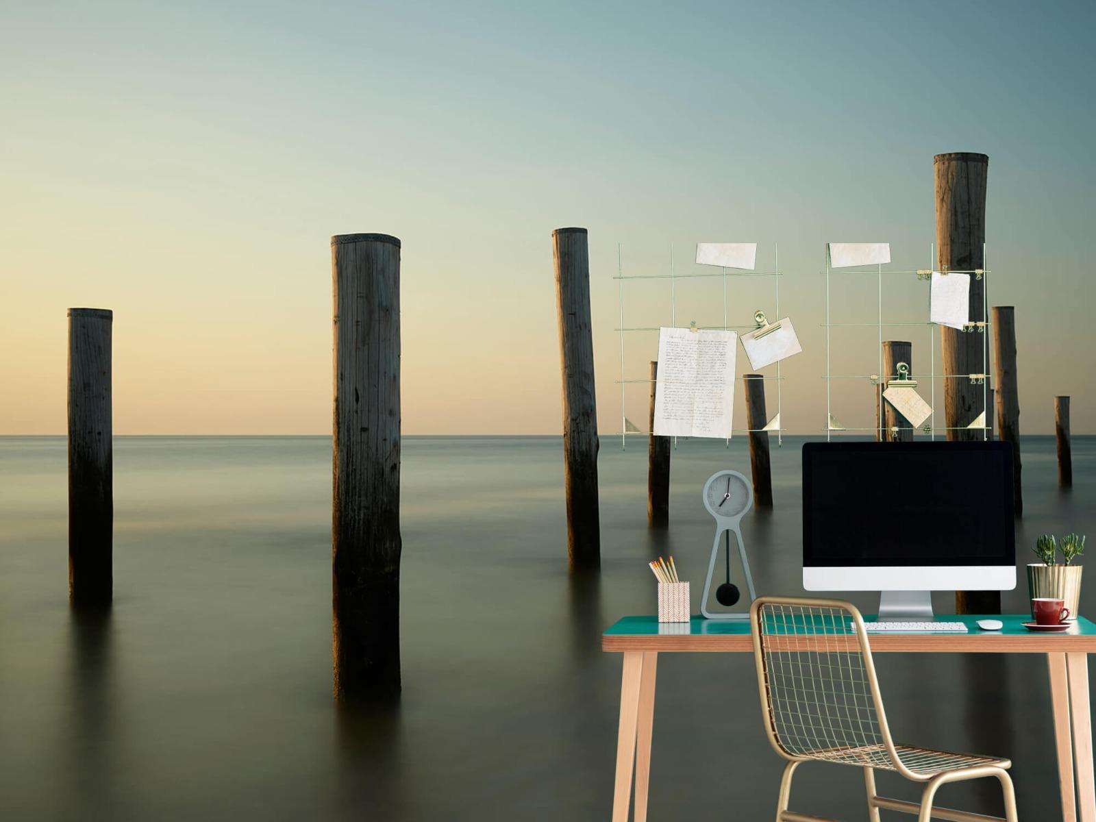 Zeeën en Oceanen - Houten strandpalen - Slaapkamer 2