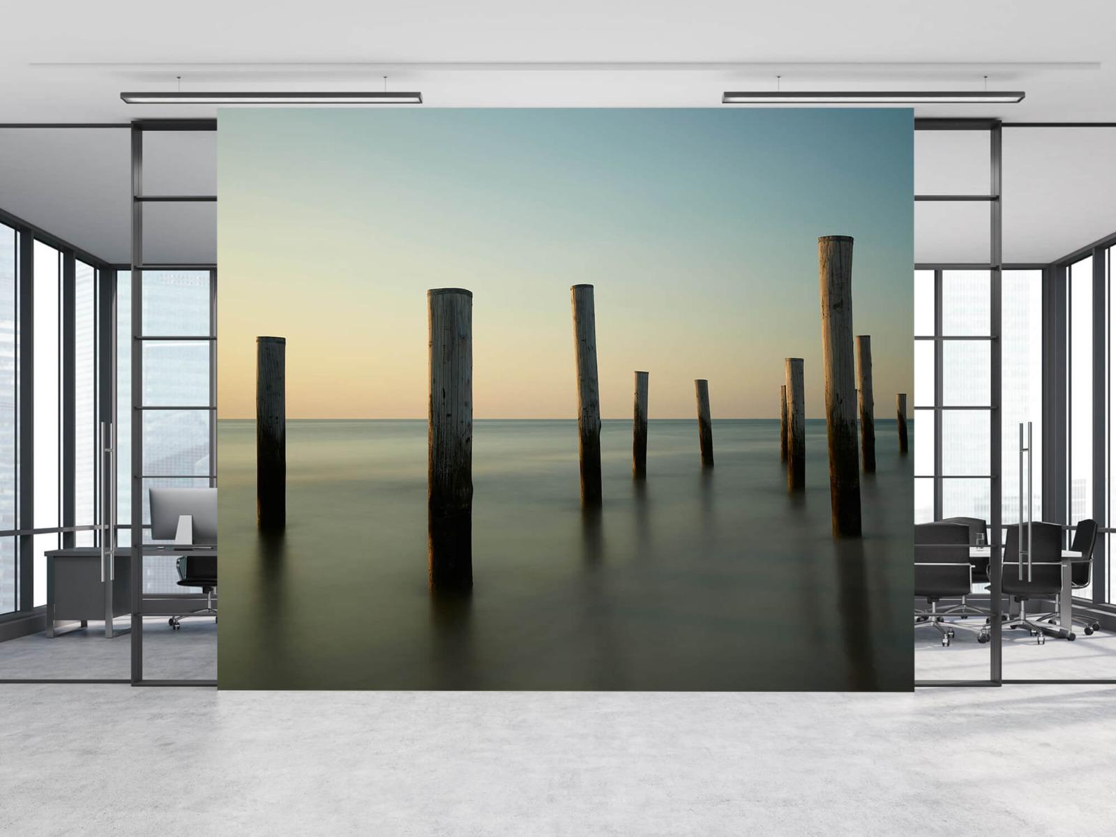 Zeeën en Oceanen - Houten strandpalen - Slaapkamer 11