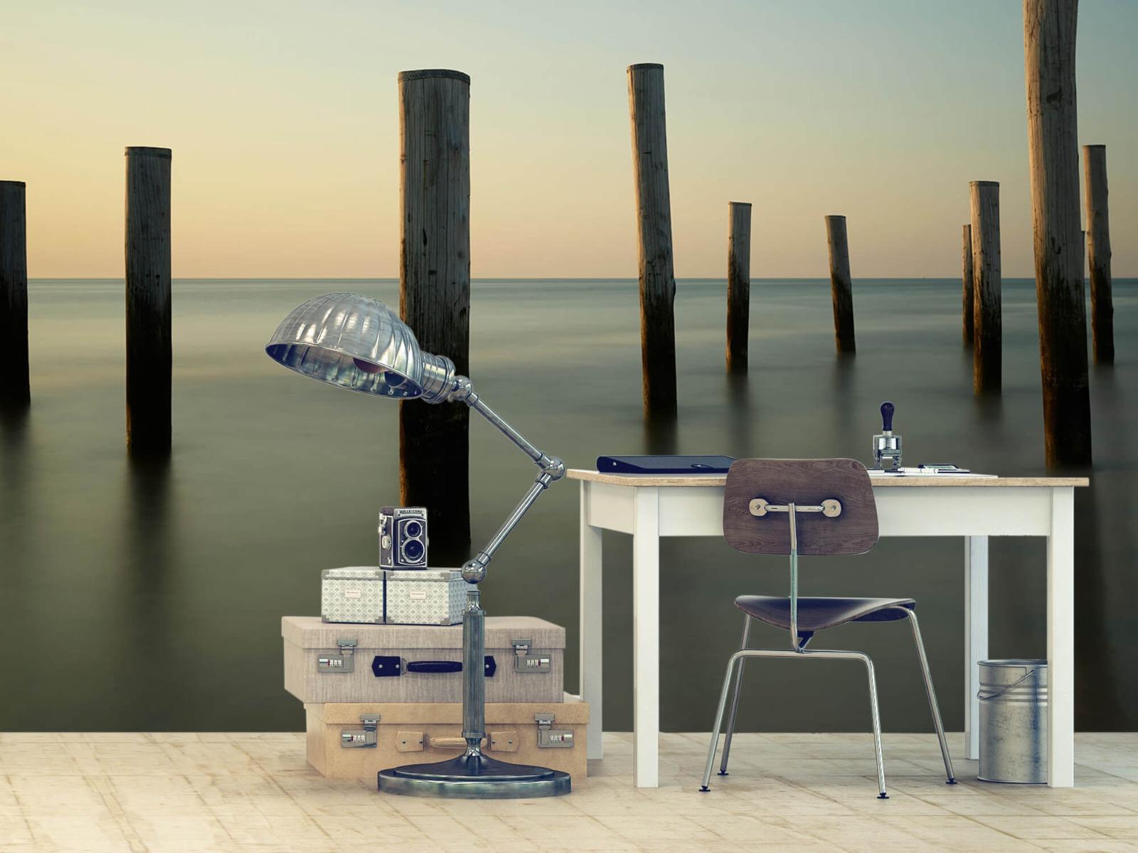 Zeeën en Oceanen - Houten strandpalen - Slaapkamer 12
