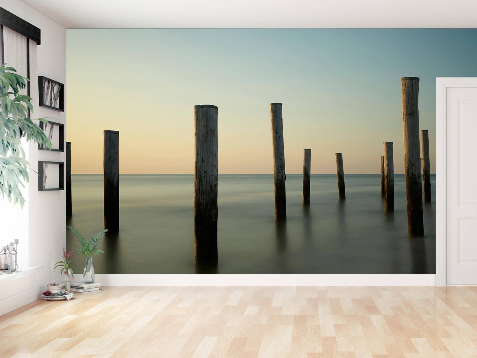 Zeeën en Oceanen - Houten strandpalen - Slaapkamer 14