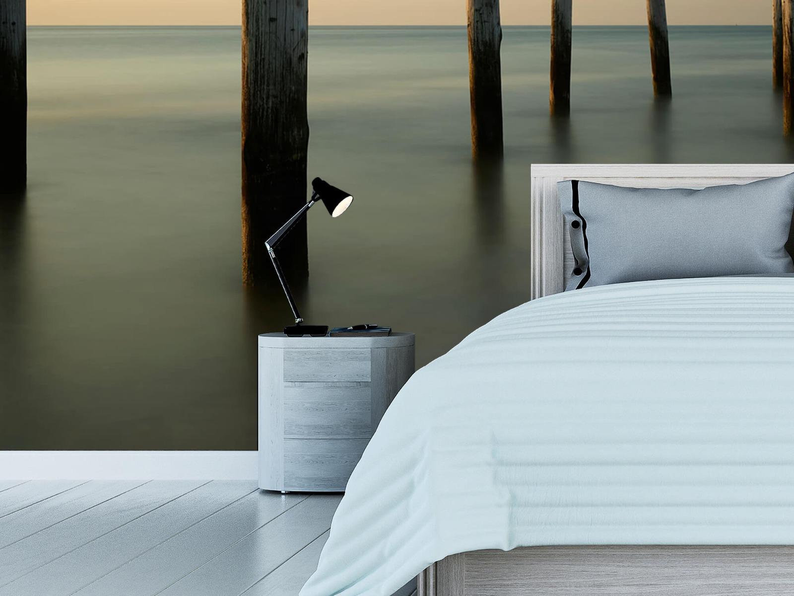 Zeeën en Oceanen - Houten strandpalen - Slaapkamer 15