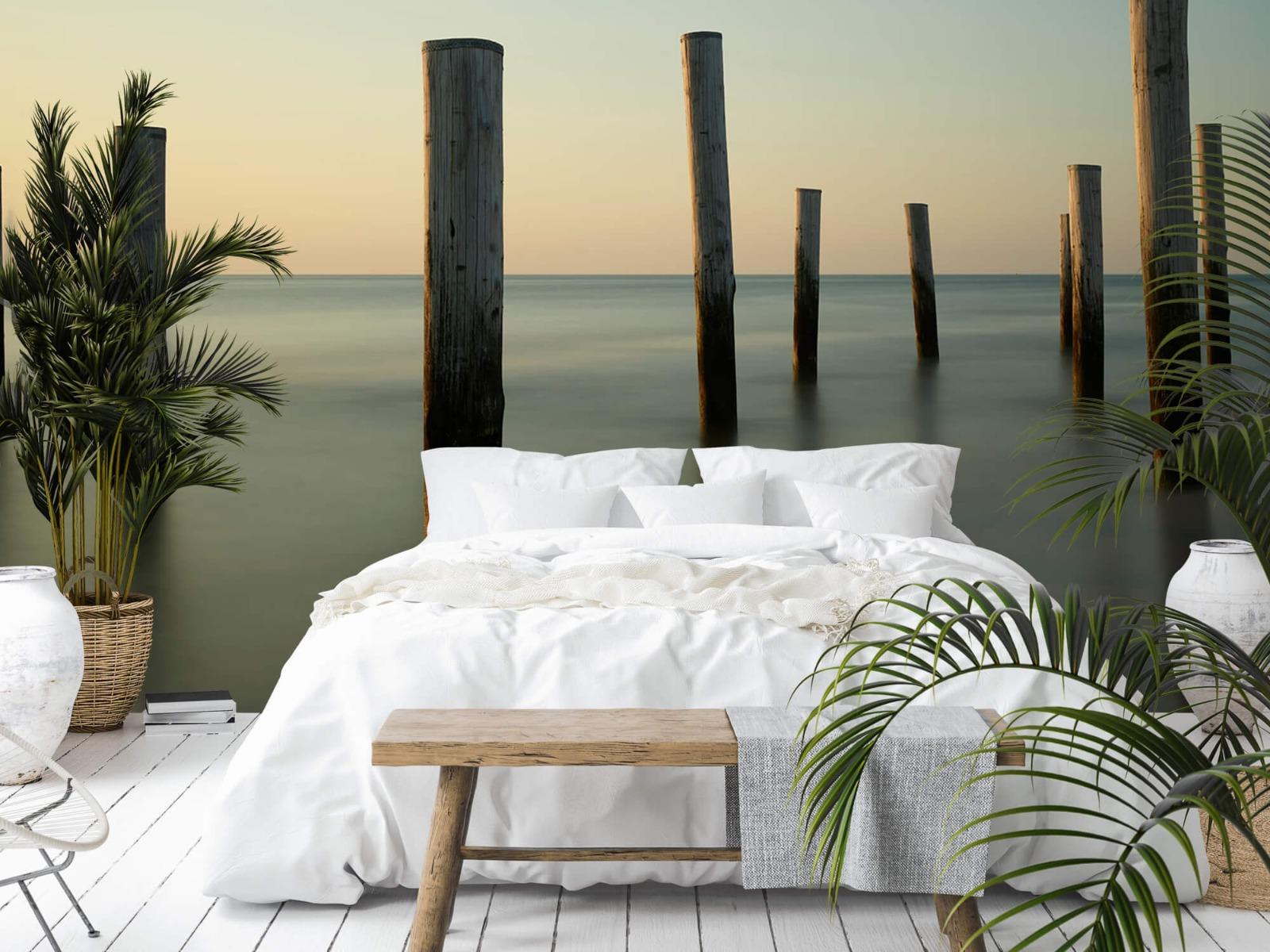 Zeeën en Oceanen - Houten strandpalen - Slaapkamer 4