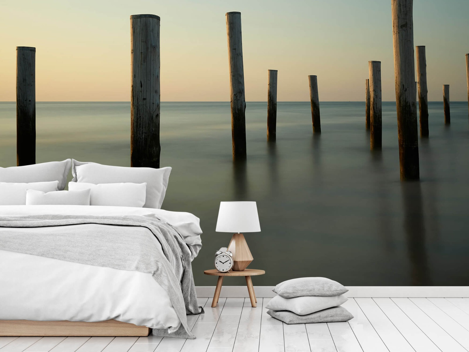 Zeeën en Oceanen - Houten strandpalen - Slaapkamer 16