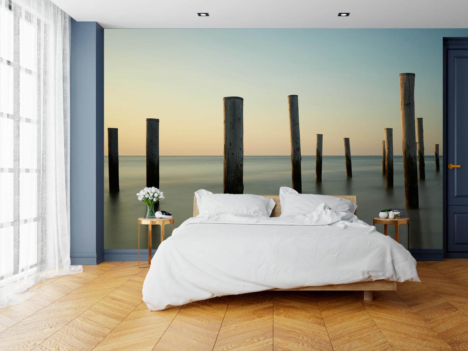 Zeeën en Oceanen - Houten strandpalen - Slaapkamer 3