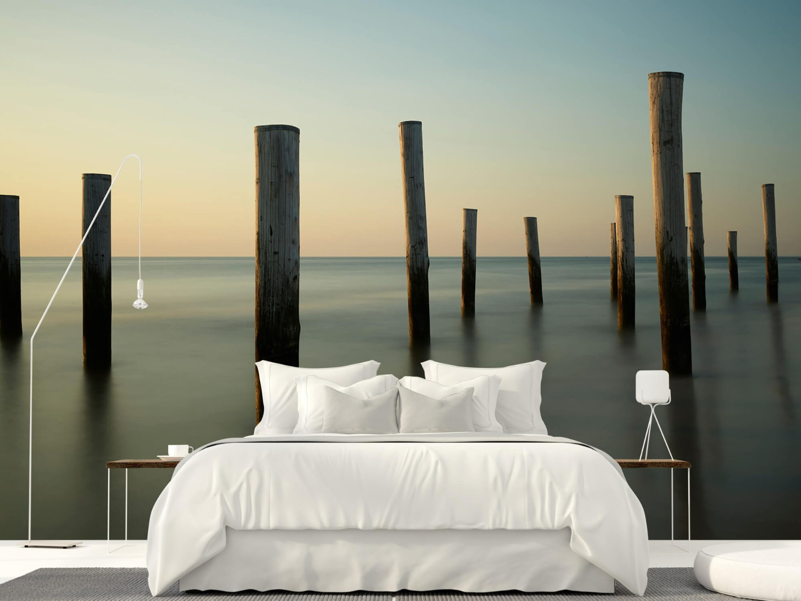 Zeeën en Oceanen - Houten strandpalen - Slaapkamer 17