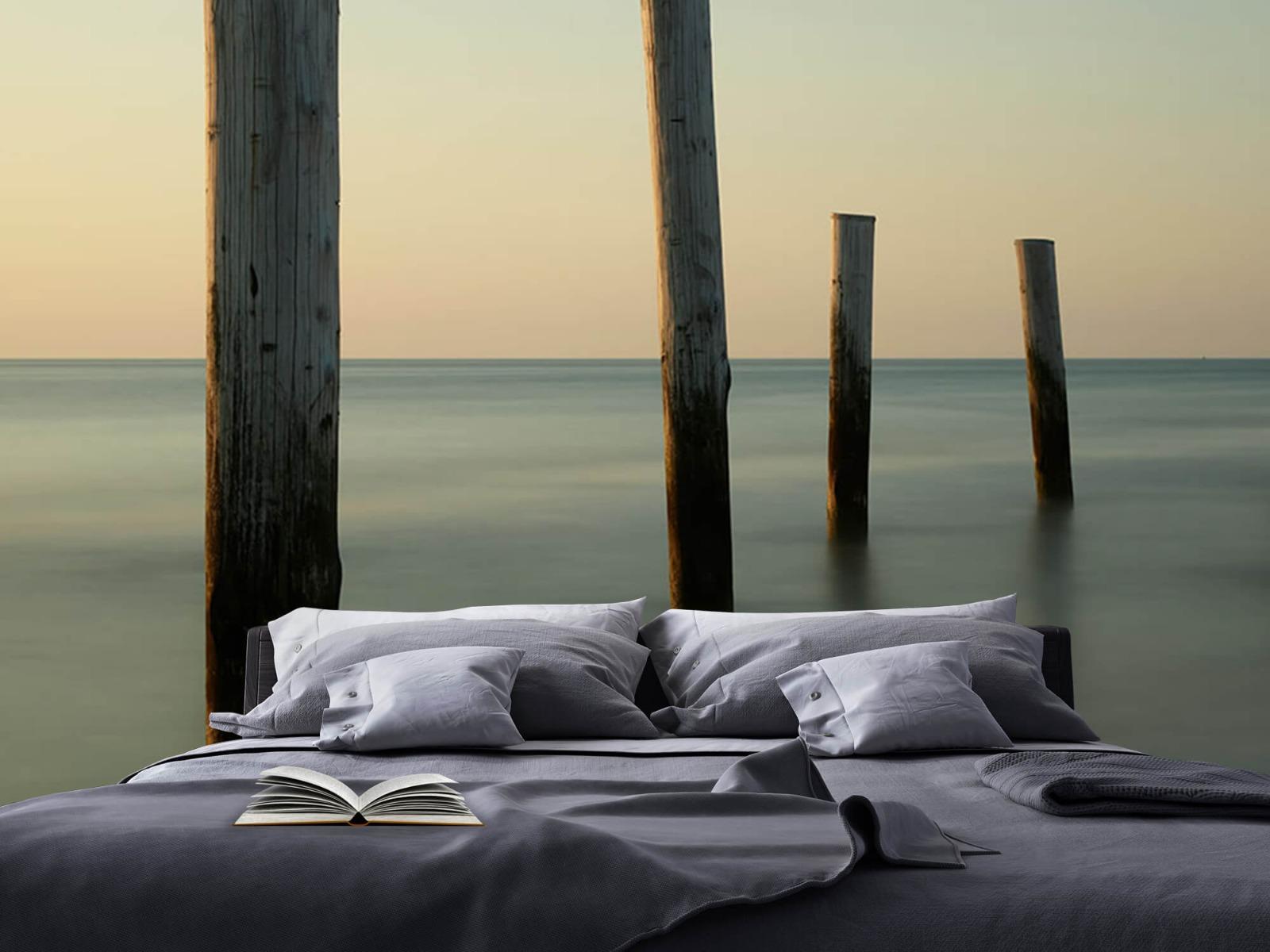 Zeeën en Oceanen - Houten strandpalen - Slaapkamer 18