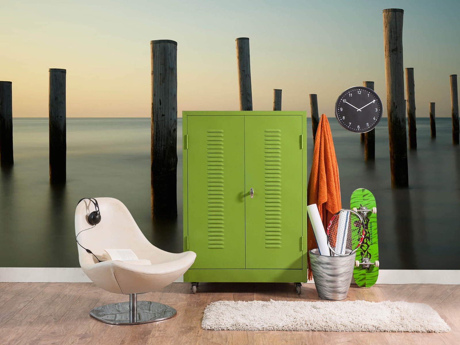 Zeeën en Oceanen - Houten strandpalen - Slaapkamer 19