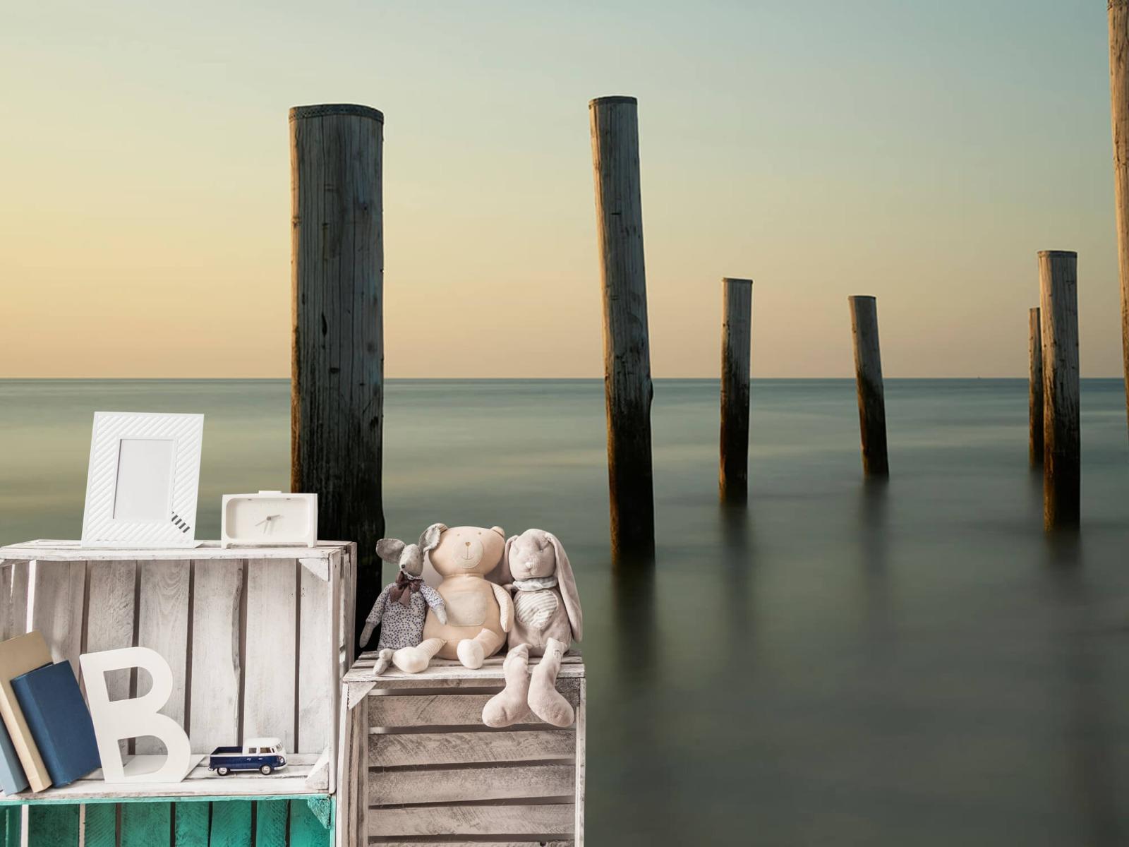 Zeeën en Oceanen - Houten strandpalen - Slaapkamer 20