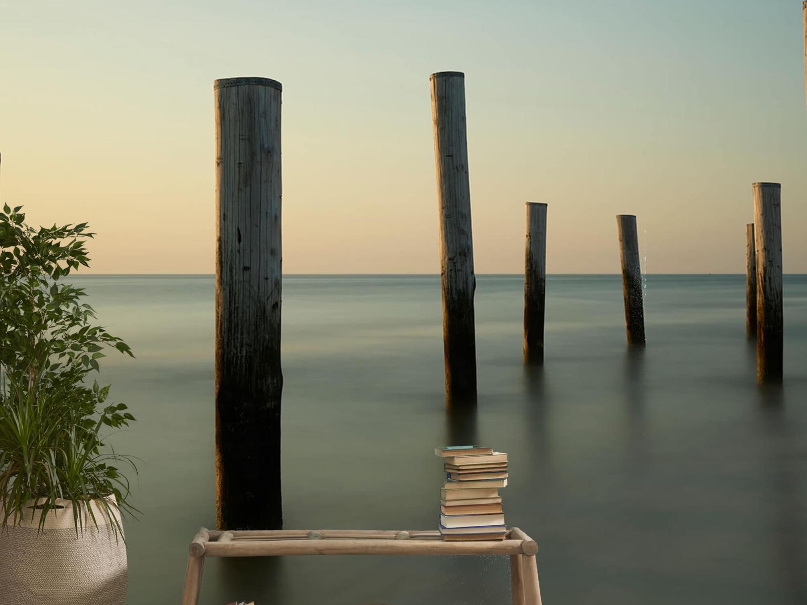 Zeeën en Oceanen - Houten strandpalen - Slaapkamer 5