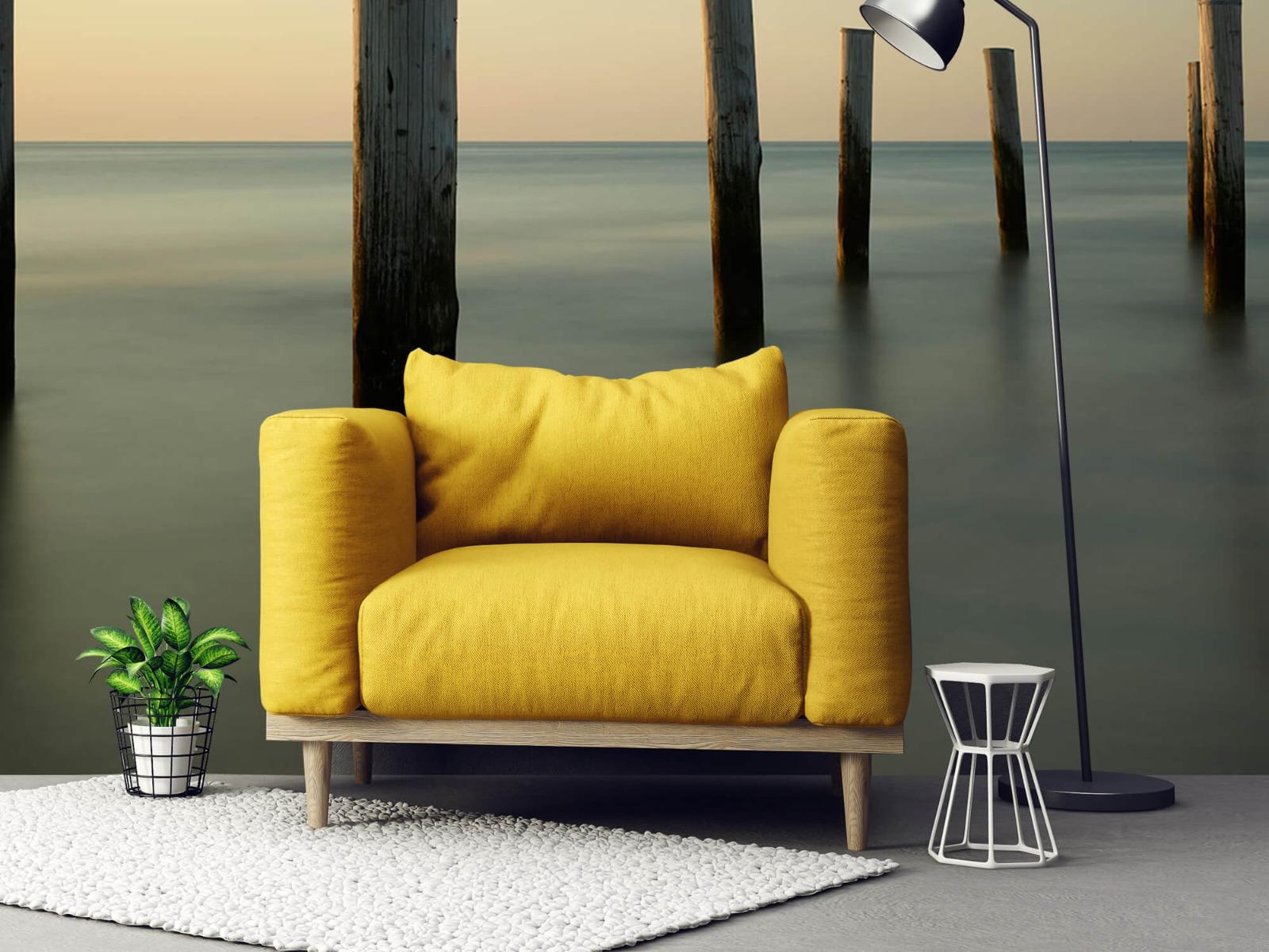 Zeeën en Oceanen - Houten strandpalen - Slaapkamer 21