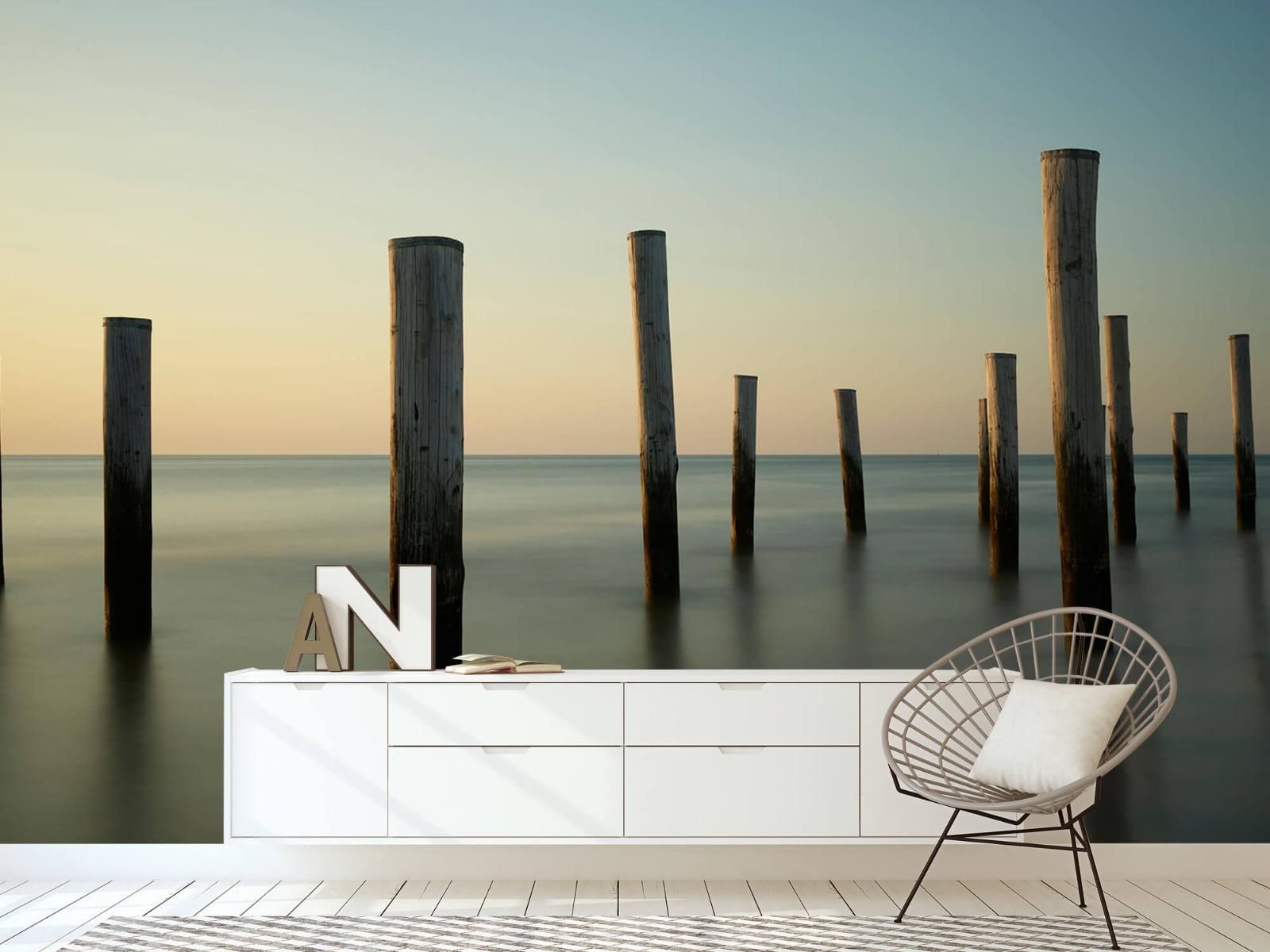 Zeeën en Oceanen - Houten strandpalen - Slaapkamer 23