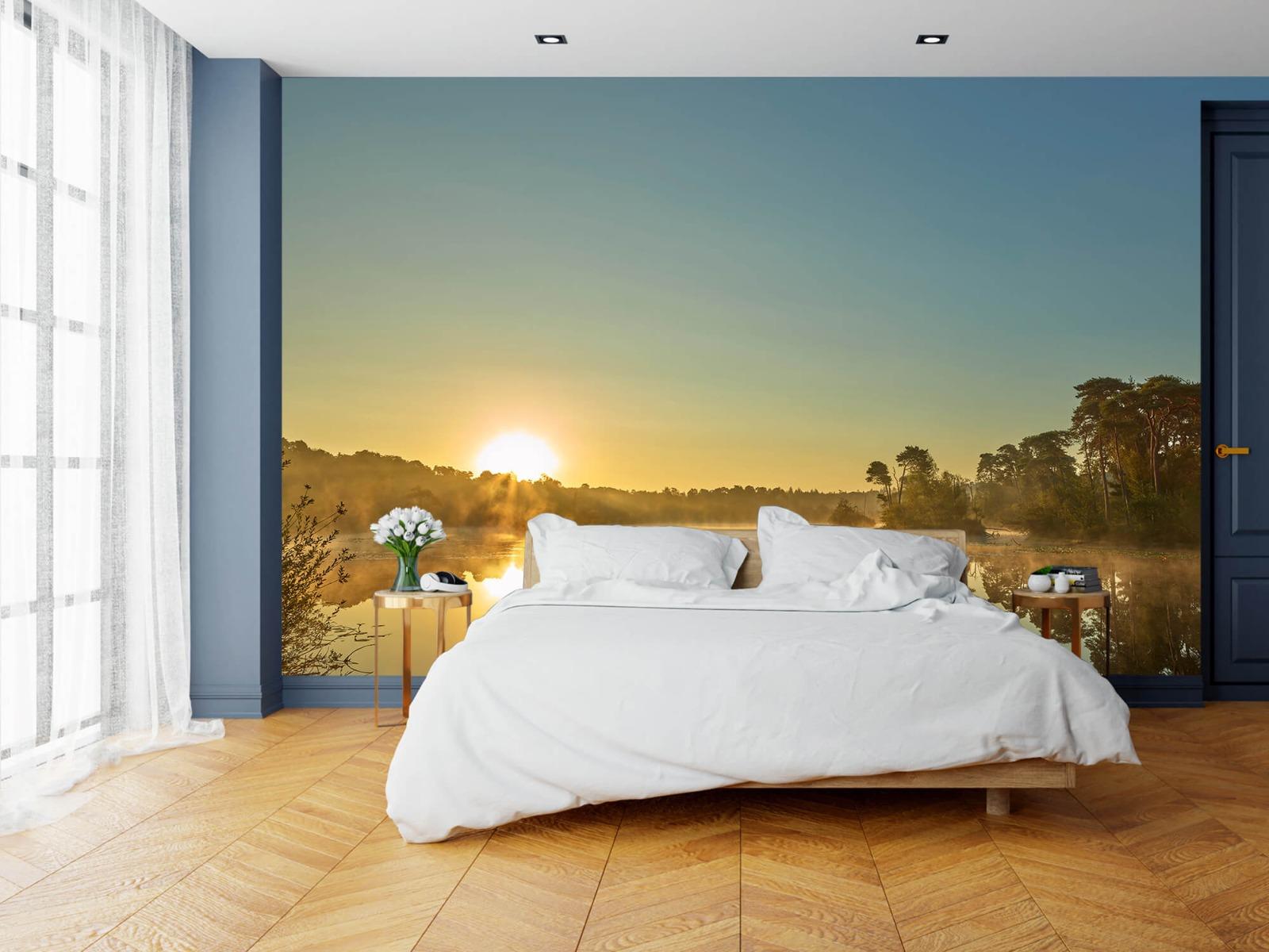 Mist - Zonsopkomst bij bosmeer - Slaapkamer 15