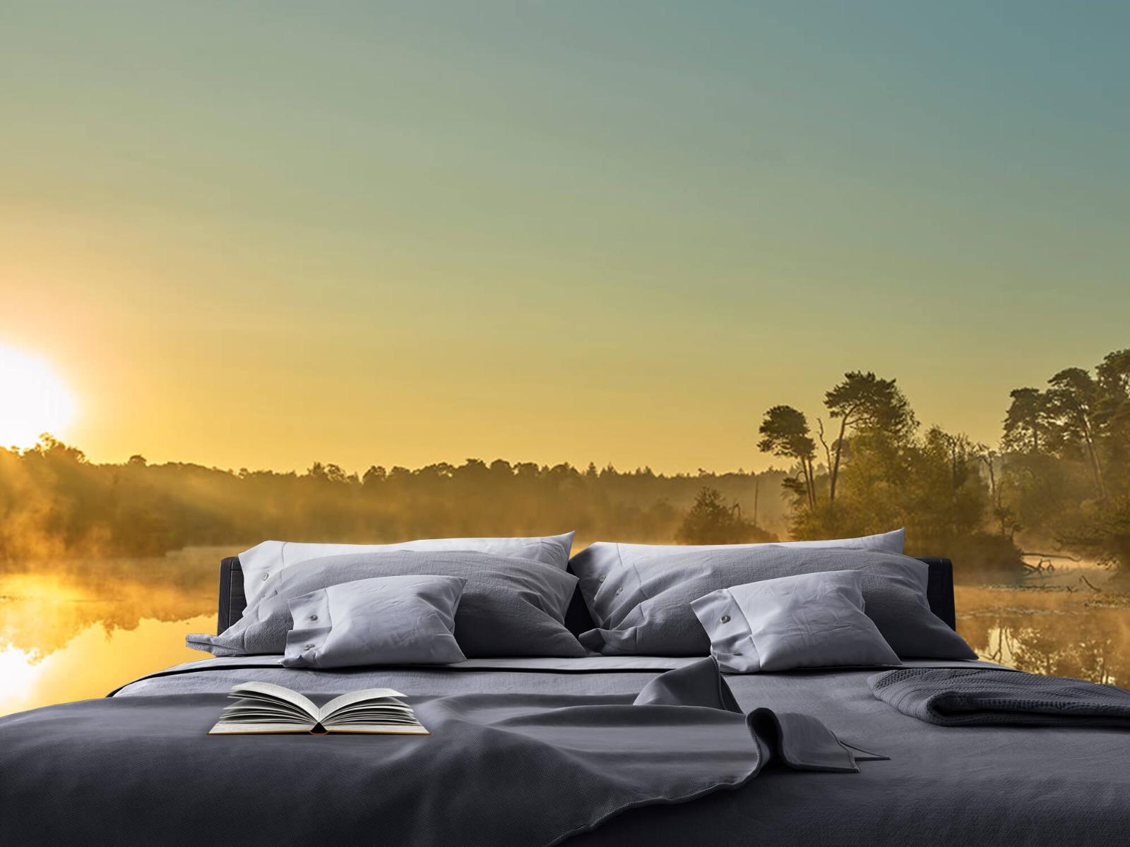 Mist - Zonsopkomst bij bosmeer - Slaapkamer 17