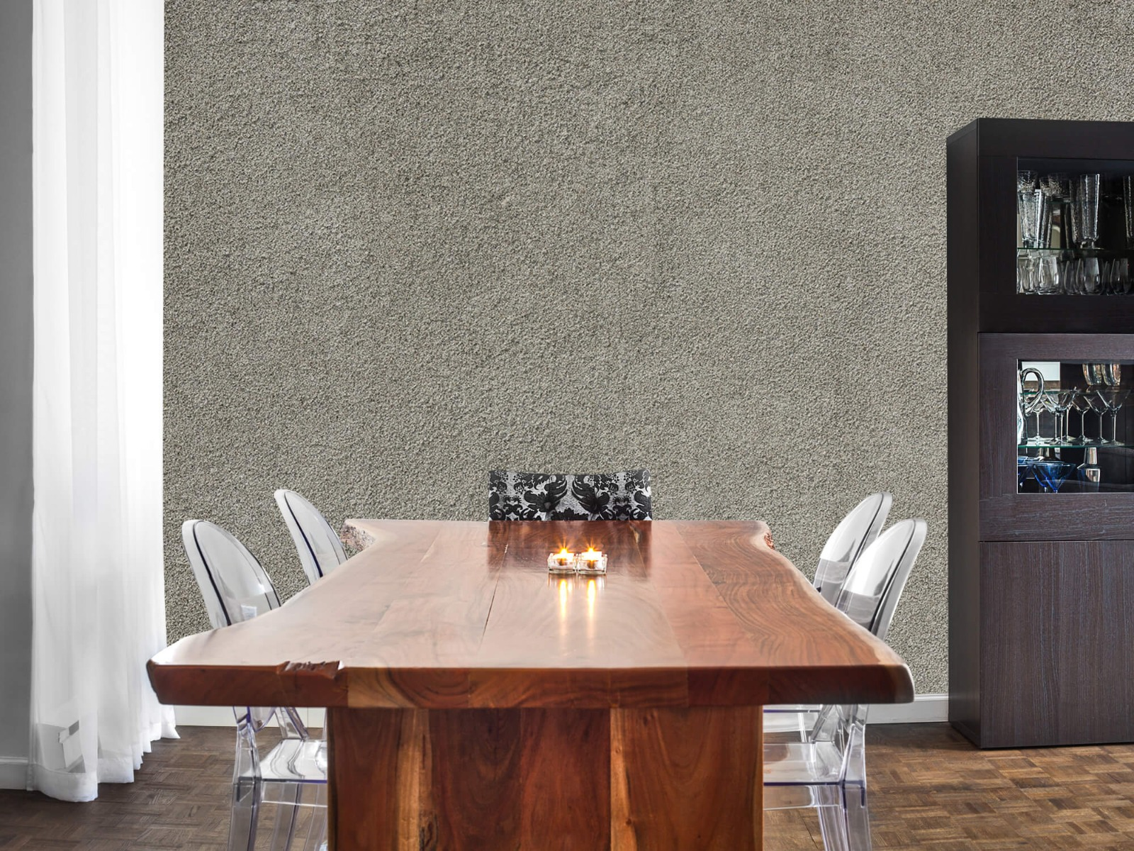 Betonlook behang - Betonnen muur met fijne steentjes - Kantoor 2