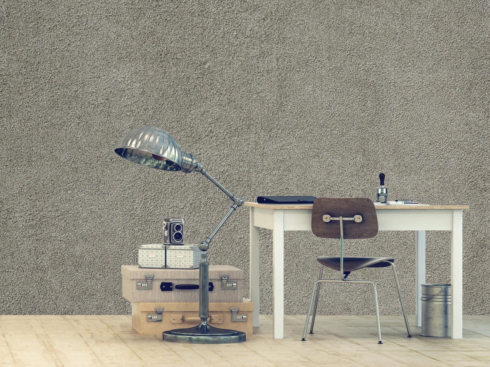 Betonlook behang - Betonnen muur met fijne steentjes - Kantoor 9