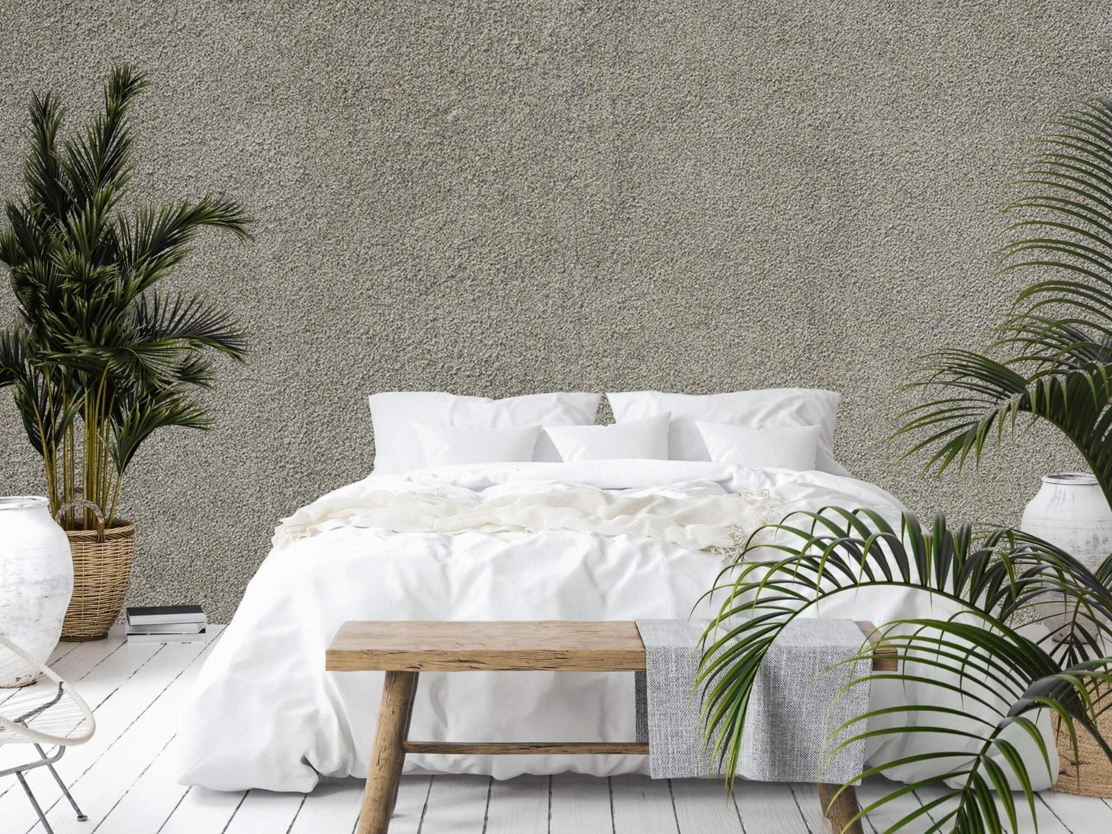 Betonlook behang - Betonnen muur met fijne steentjes - Kantoor 13