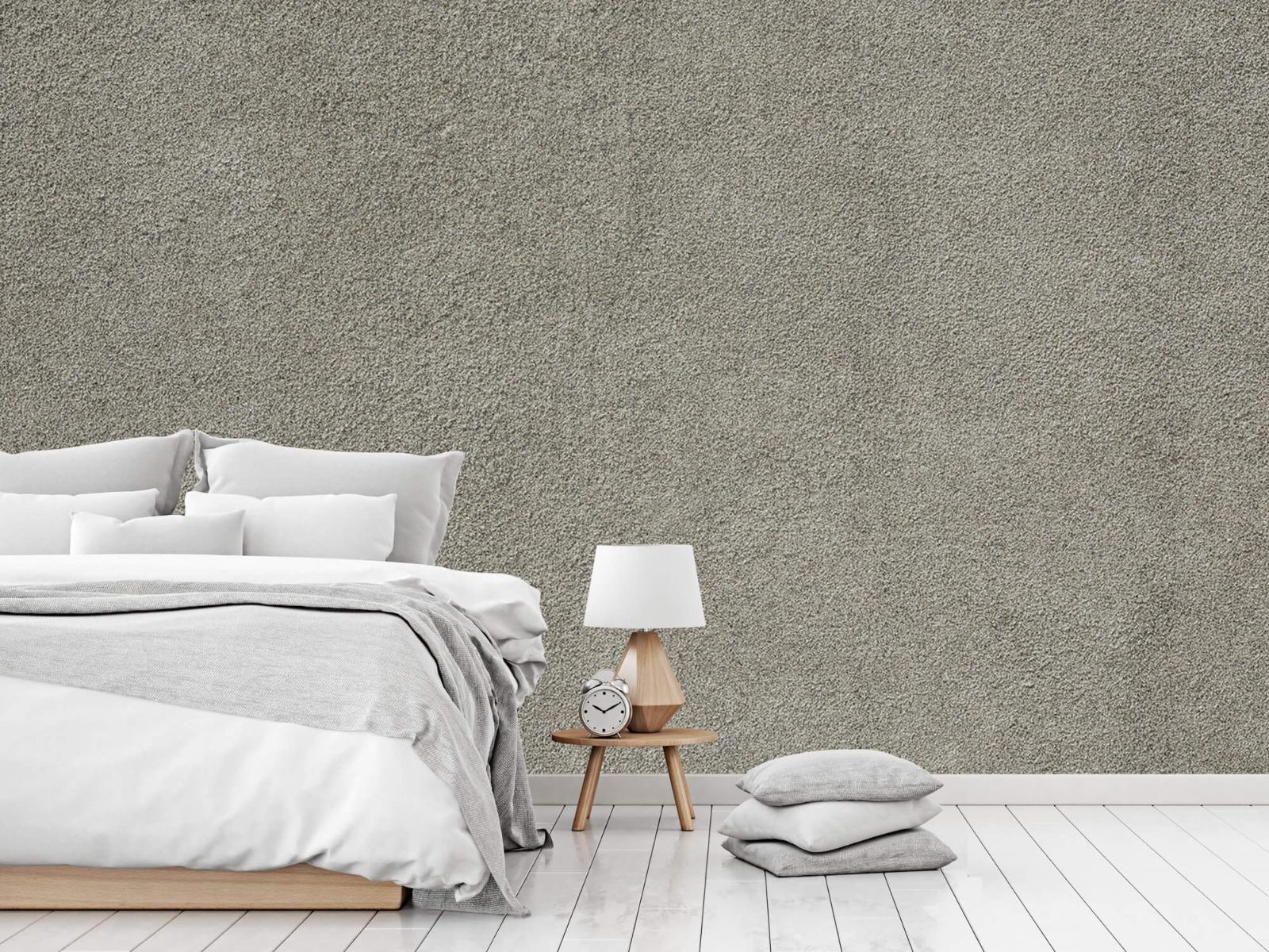 Betonlook behang - Betonnen muur met fijne steentjes - Kantoor 14