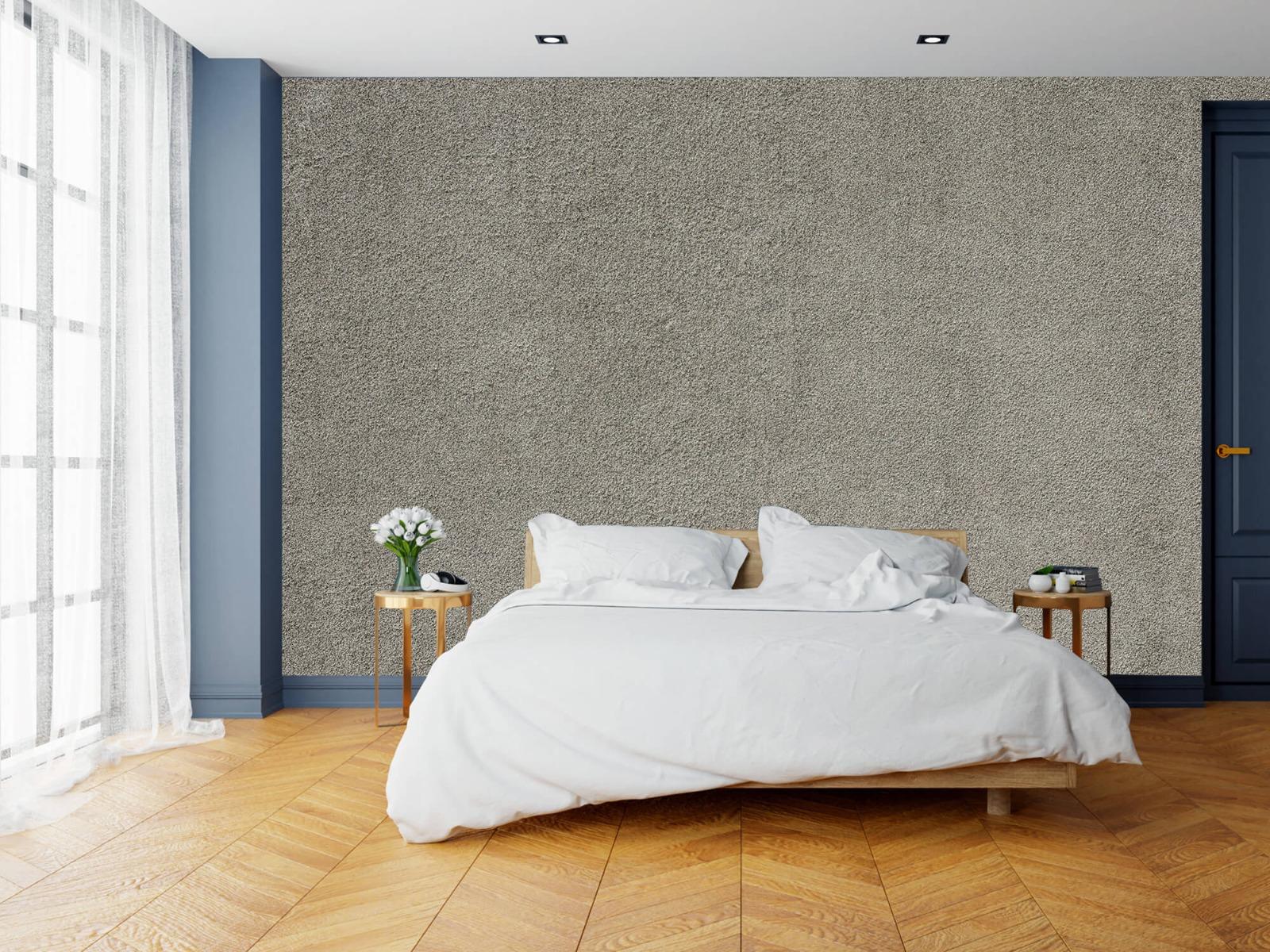 Betonlook behang - Betonnen muur met fijne steentjes - Kantoor 15
