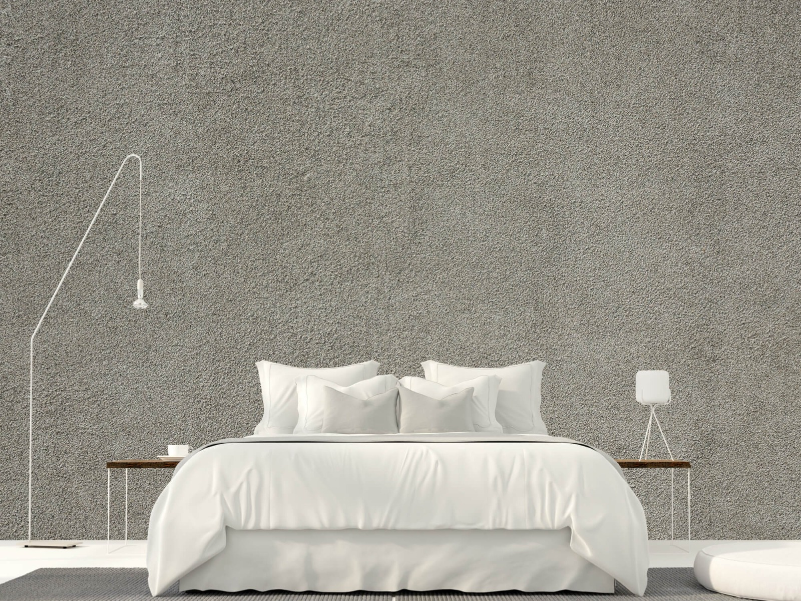 Betonlook behang - Betonnen muur met fijne steentjes - Kantoor 16