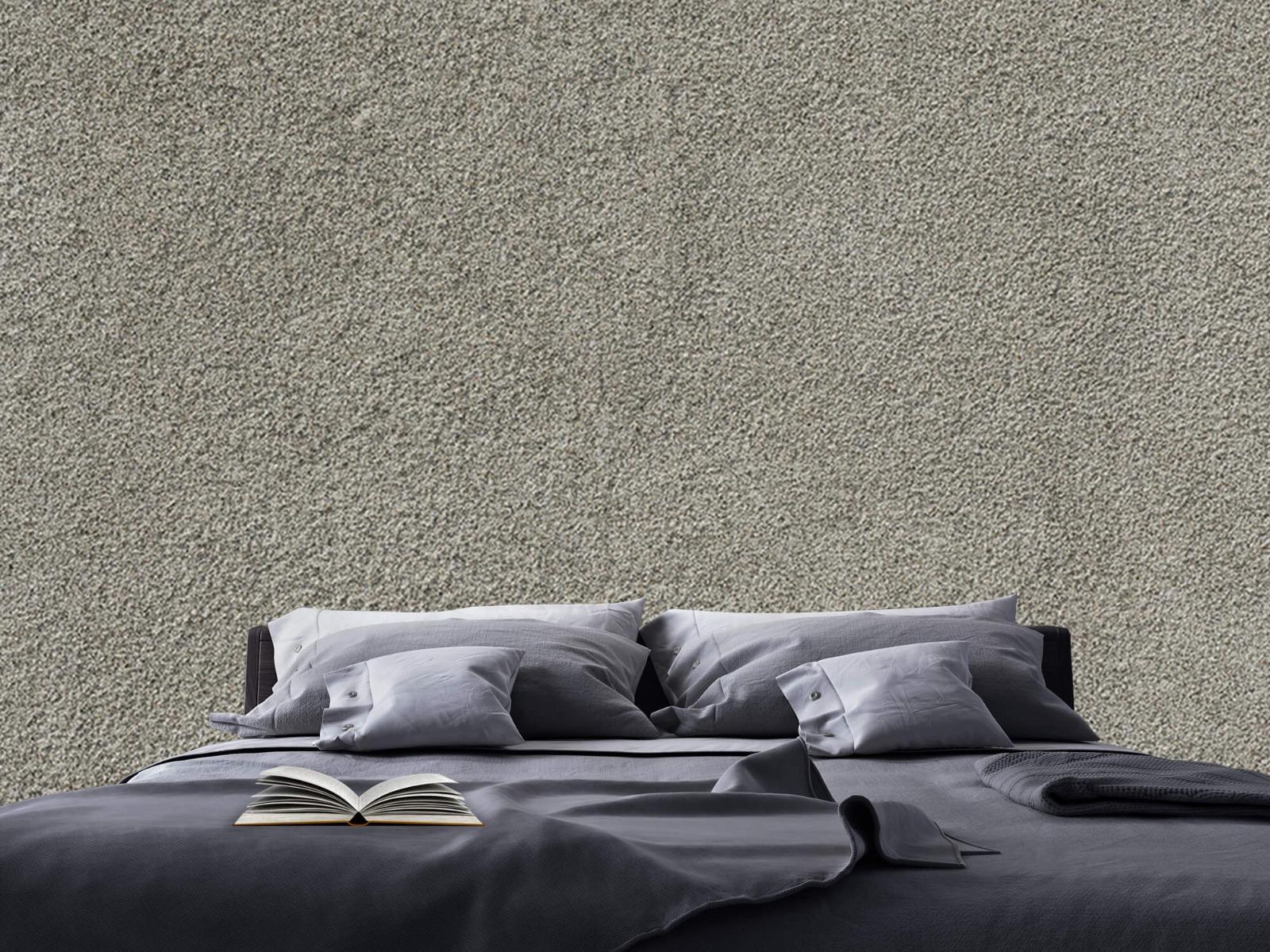 Betonlook behang - Betonnen muur met fijne steentjes - Kantoor 17