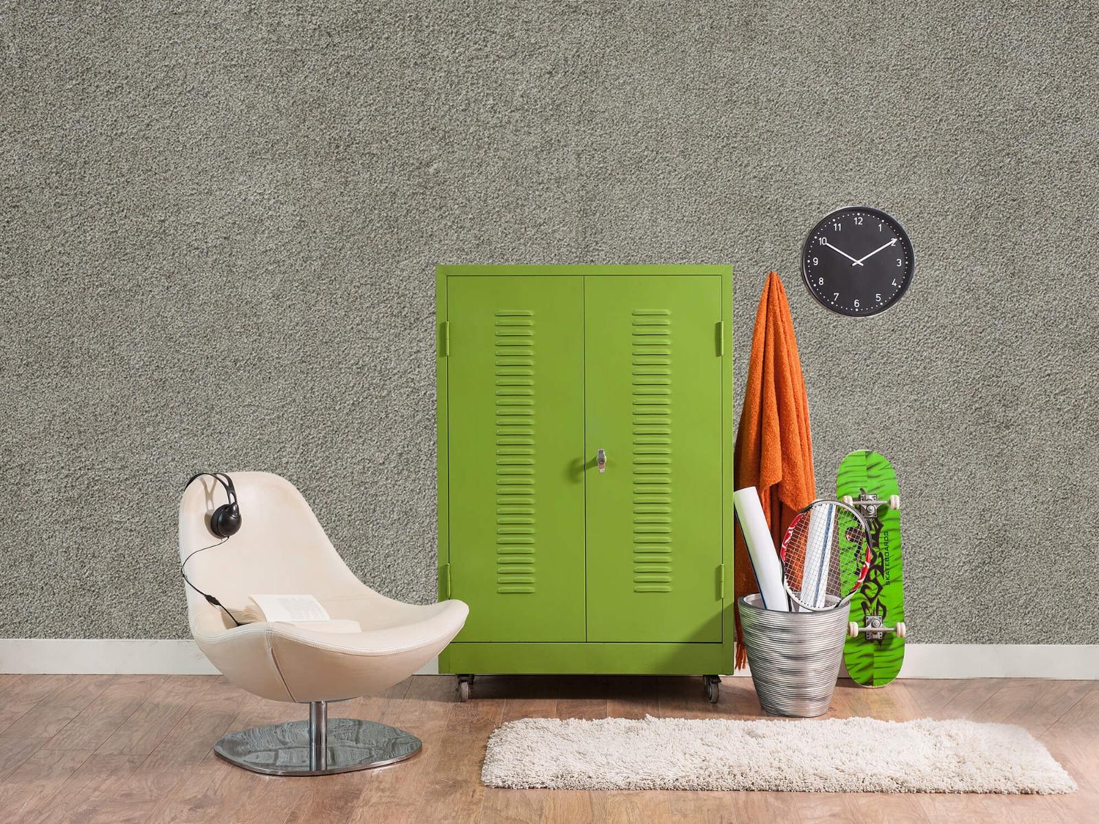 Betonlook behang - Betonnen muur met fijne steentjes - Kantoor 18