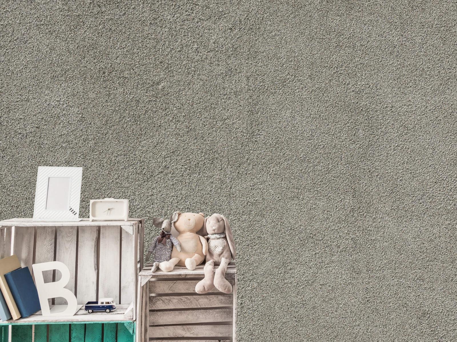 Betonlook behang - Betonnen muur met fijne steentjes - Kantoor 19