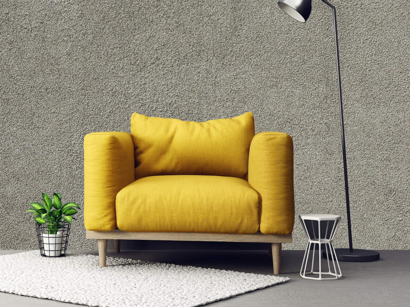 Betonlook behang - Betonnen muur met fijne steentjes - Kantoor 21