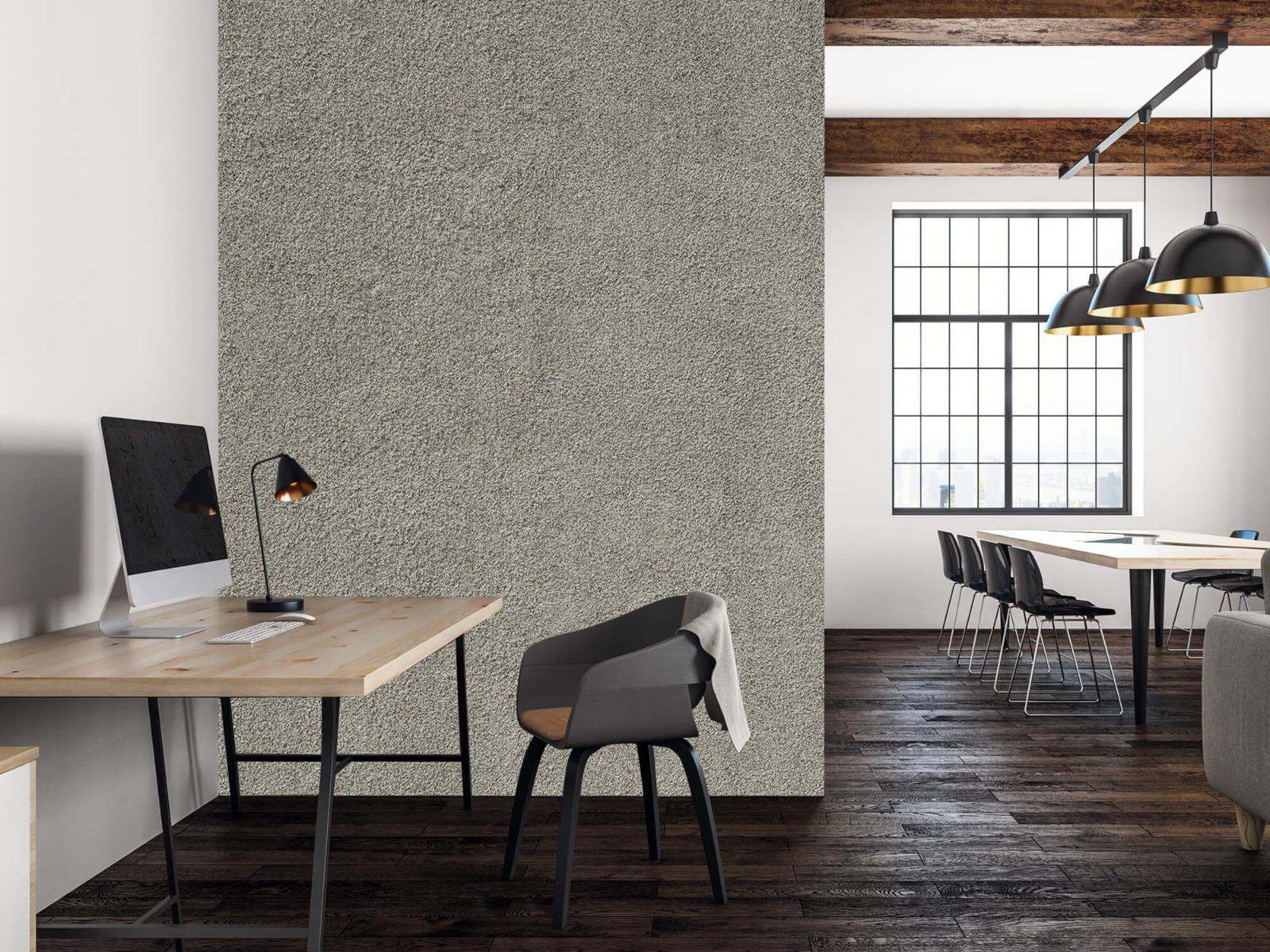 Betonlook behang - Betonnen muur met fijne steentjes - Kantoor 22