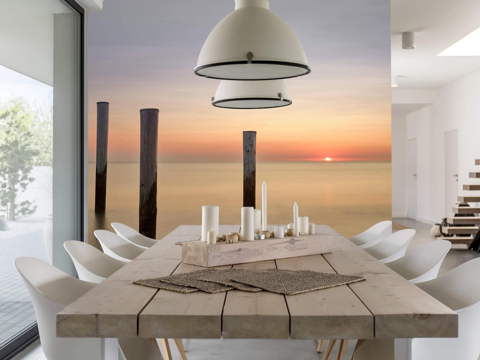 Zeeën en Oceanen - Drie houten palen - Slaapkamer 1