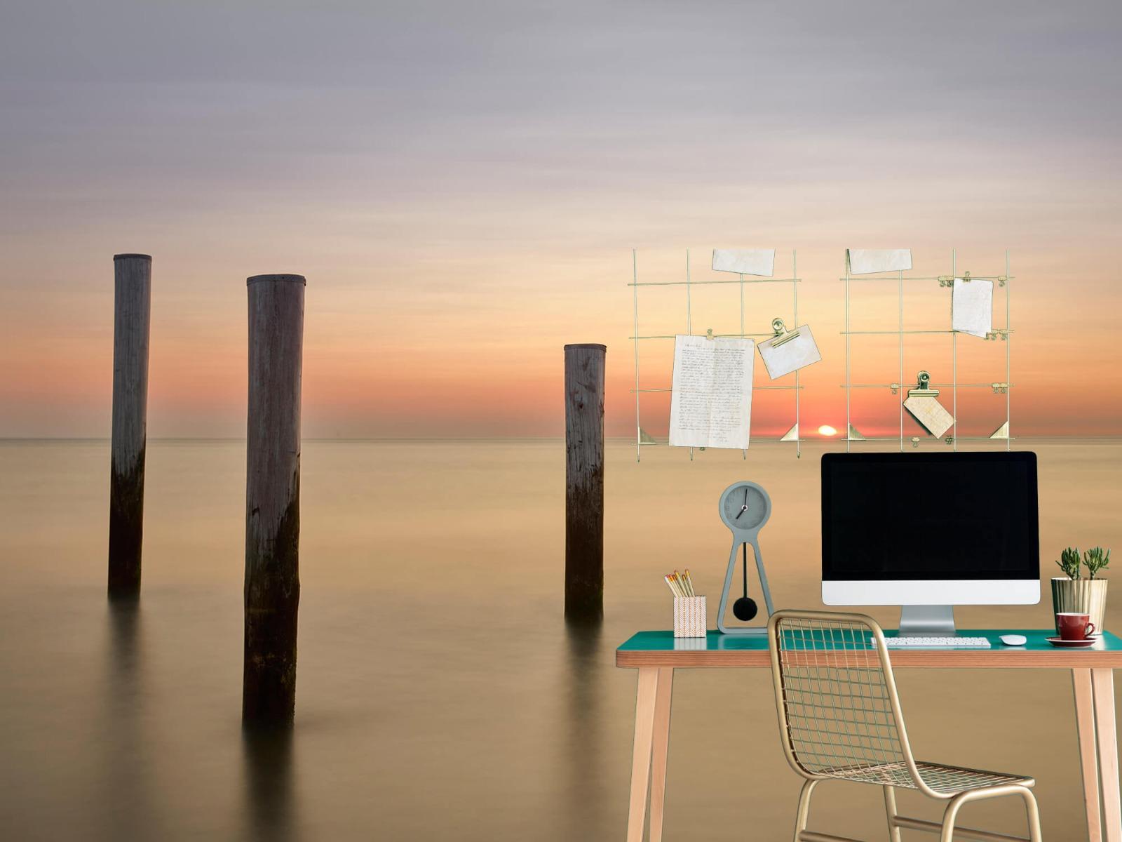 Zeeën en Oceanen - Drie houten palen - Slaapkamer 7