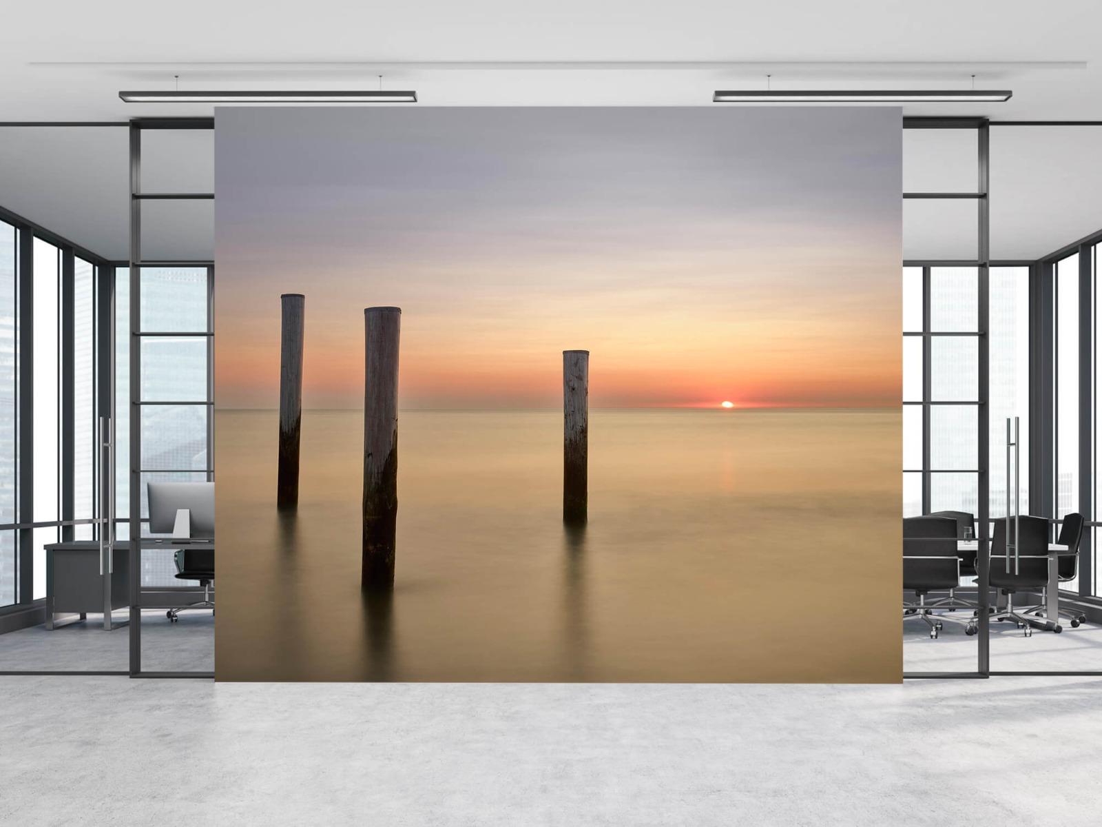 Zeeën en Oceanen - Drie houten palen - Slaapkamer 8