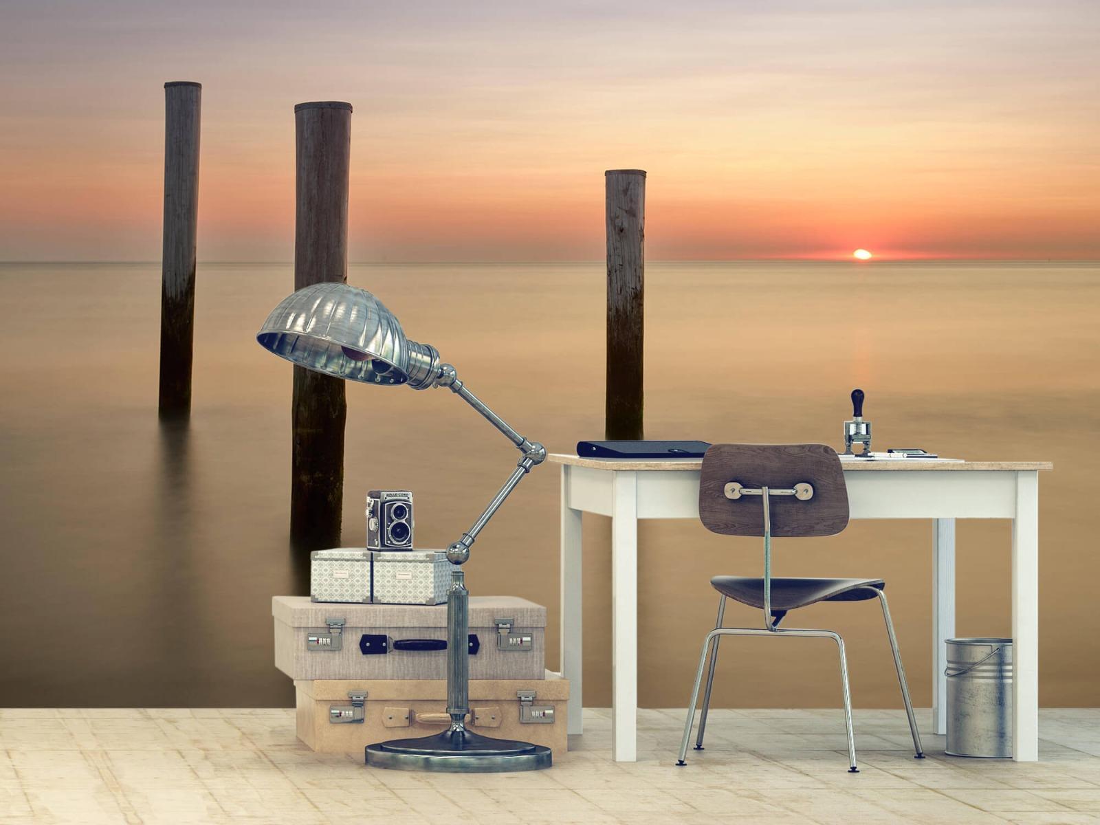 Zeeën en Oceanen - Drie houten palen - Slaapkamer 9