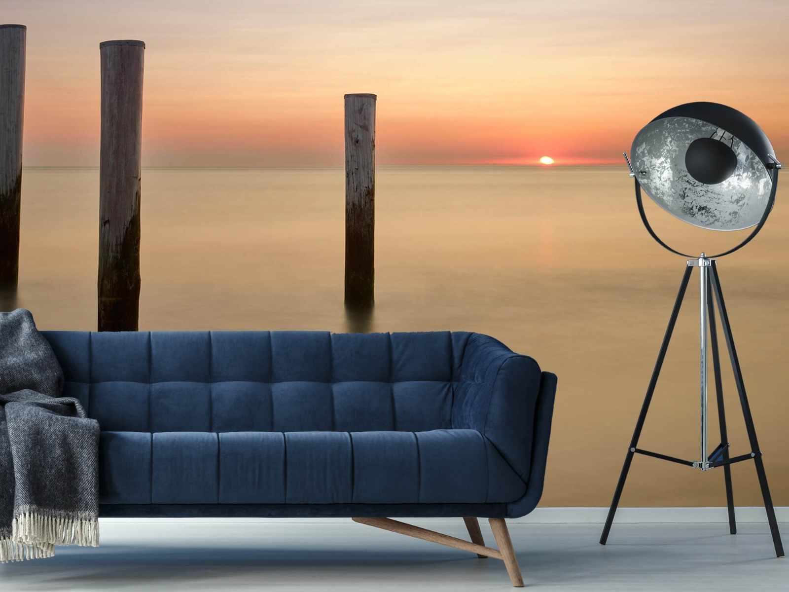 Zeeën en Oceanen - Drie houten palen - Slaapkamer 10