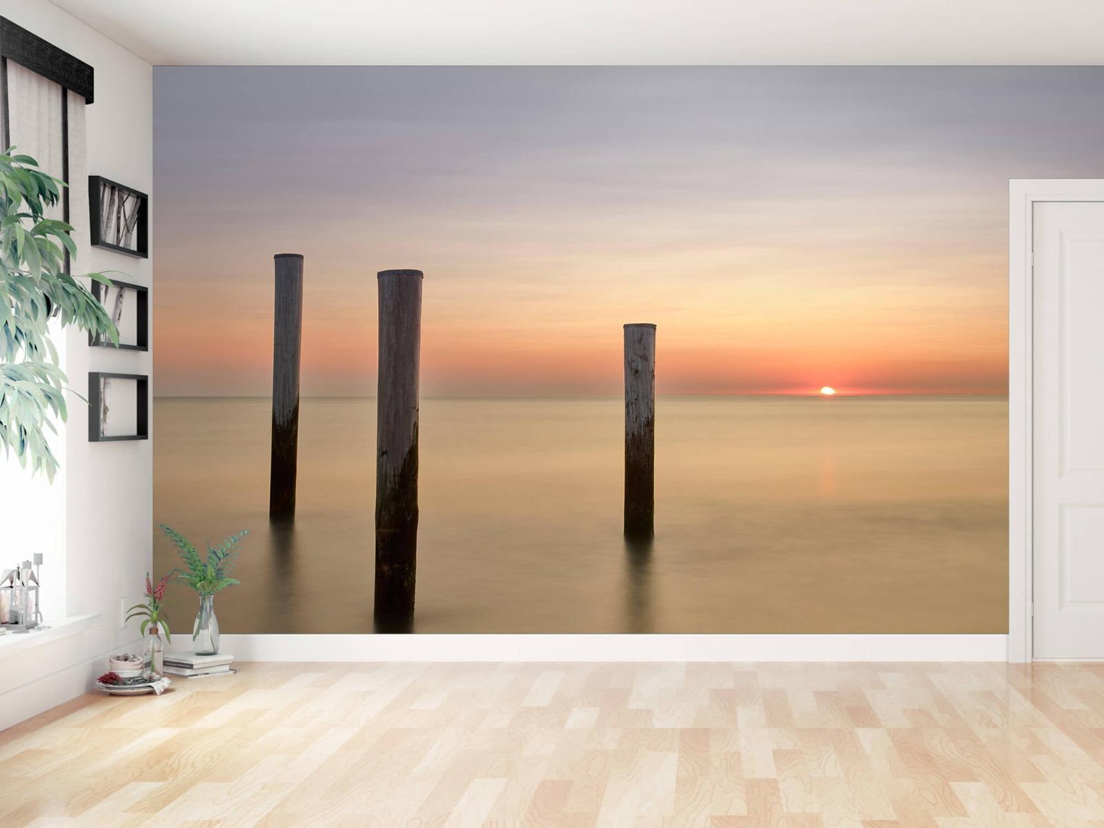 Zeeën en Oceanen - Drie houten palen - Slaapkamer 11