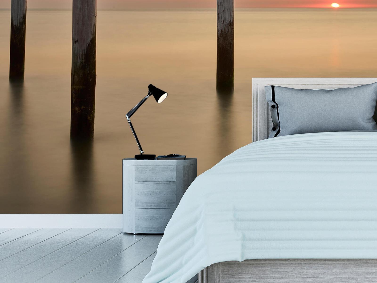 Zeeën en Oceanen - Drie houten palen - Slaapkamer 12