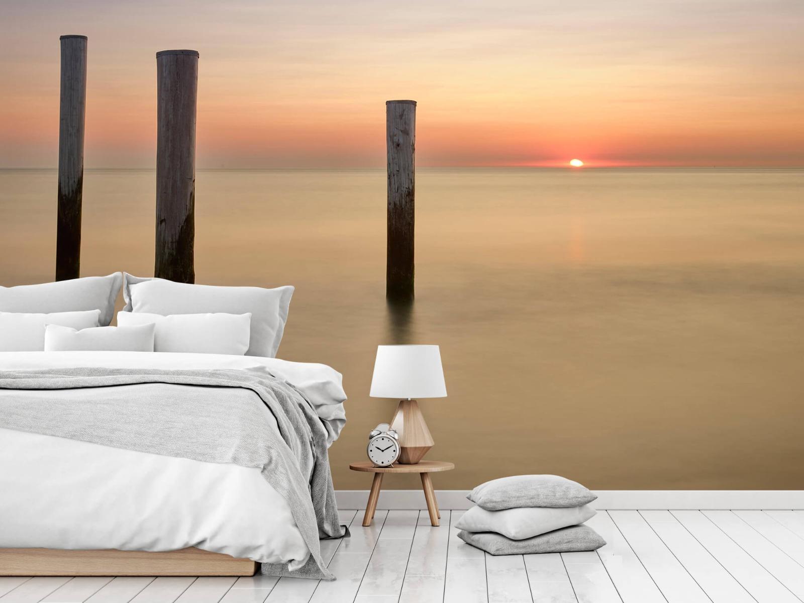 Zeeën en Oceanen - Drie houten palen - Slaapkamer 14