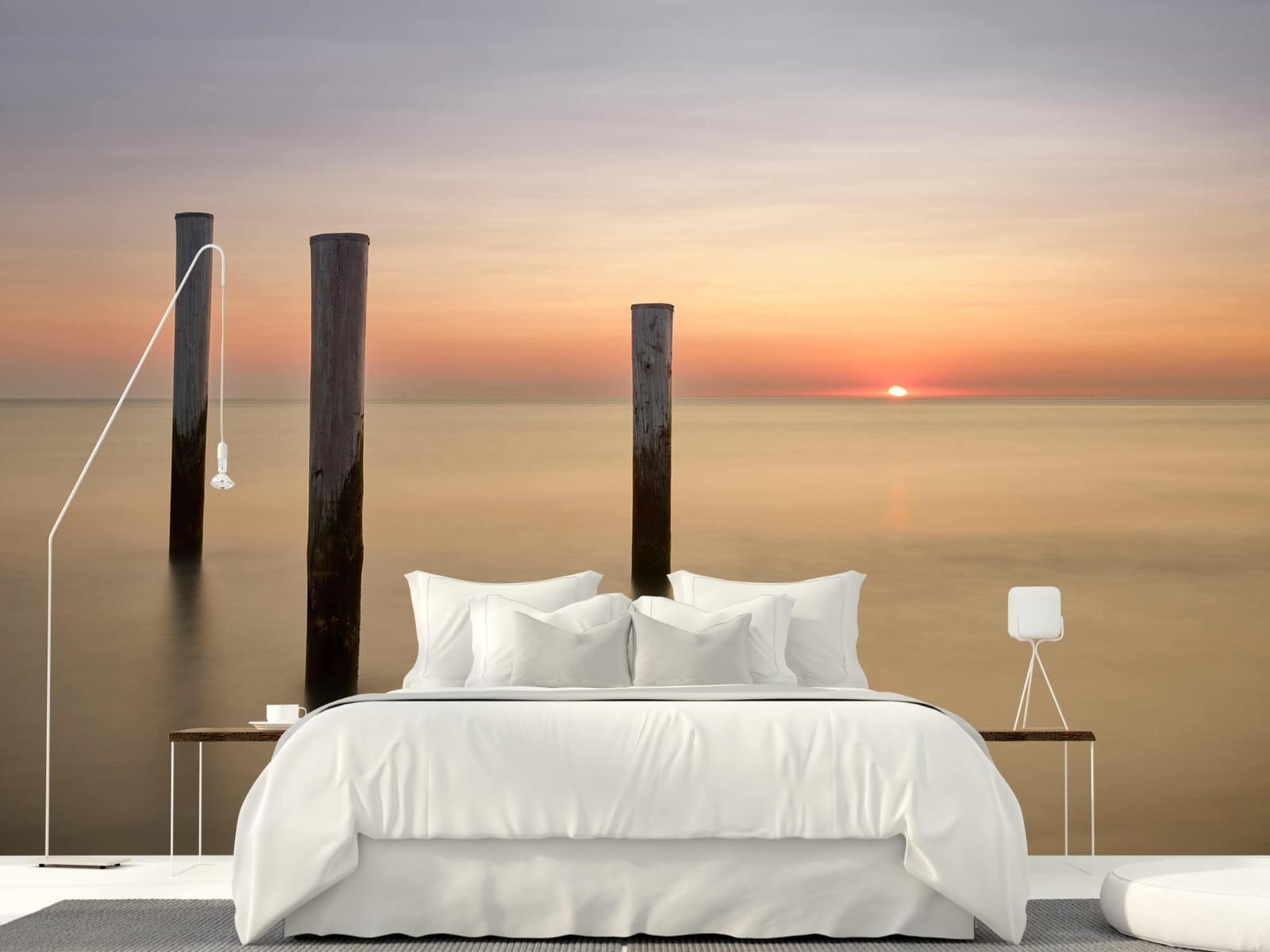 Zeeën en Oceanen - Drie houten palen - Slaapkamer 16