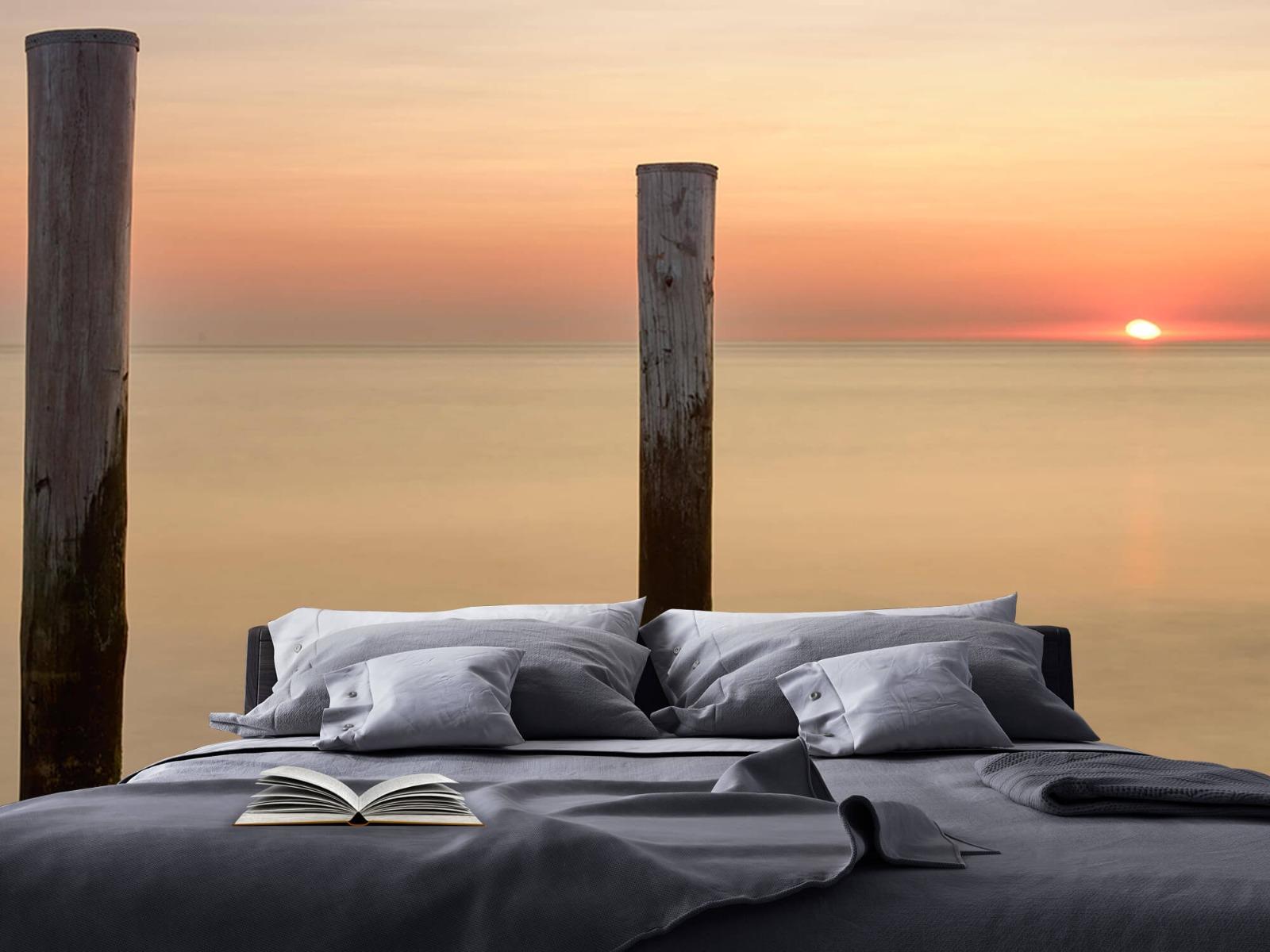 Zeeën en Oceanen - Drie houten palen - Slaapkamer 17