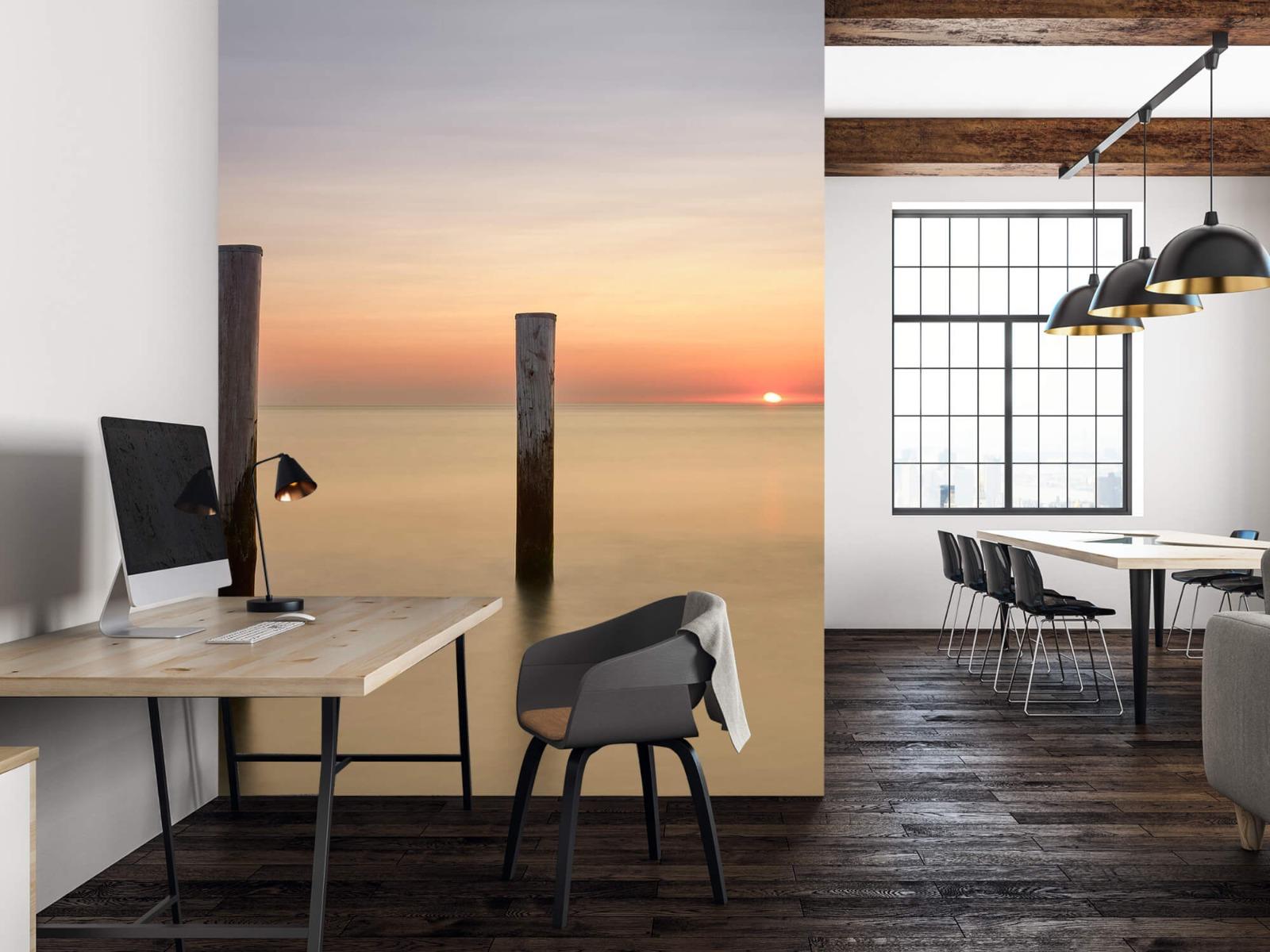 Zeeën en Oceanen - Drie houten palen - Slaapkamer 22