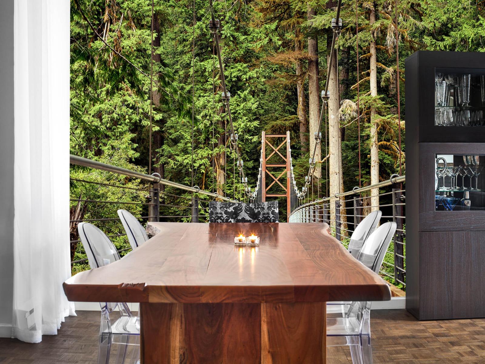 Bos behang - Brug door het bos - Slaapkamer 2