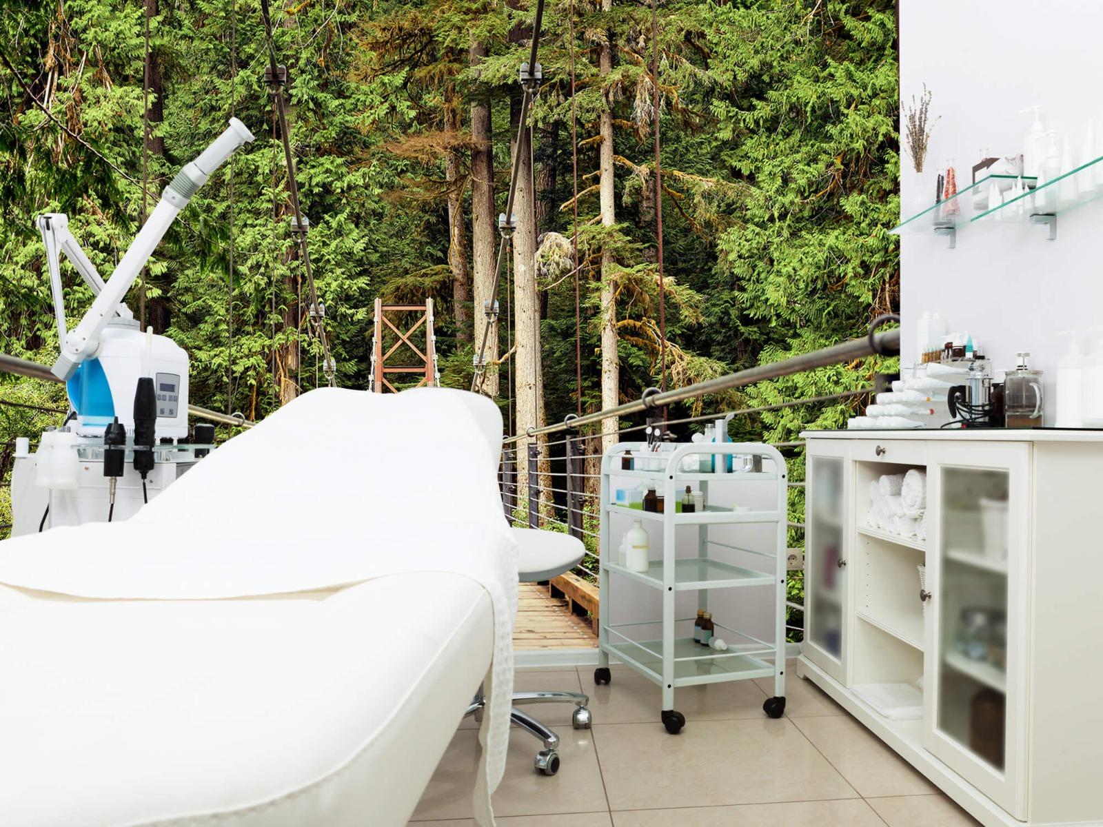 Bos behang - Brug door het bos - Slaapkamer 4