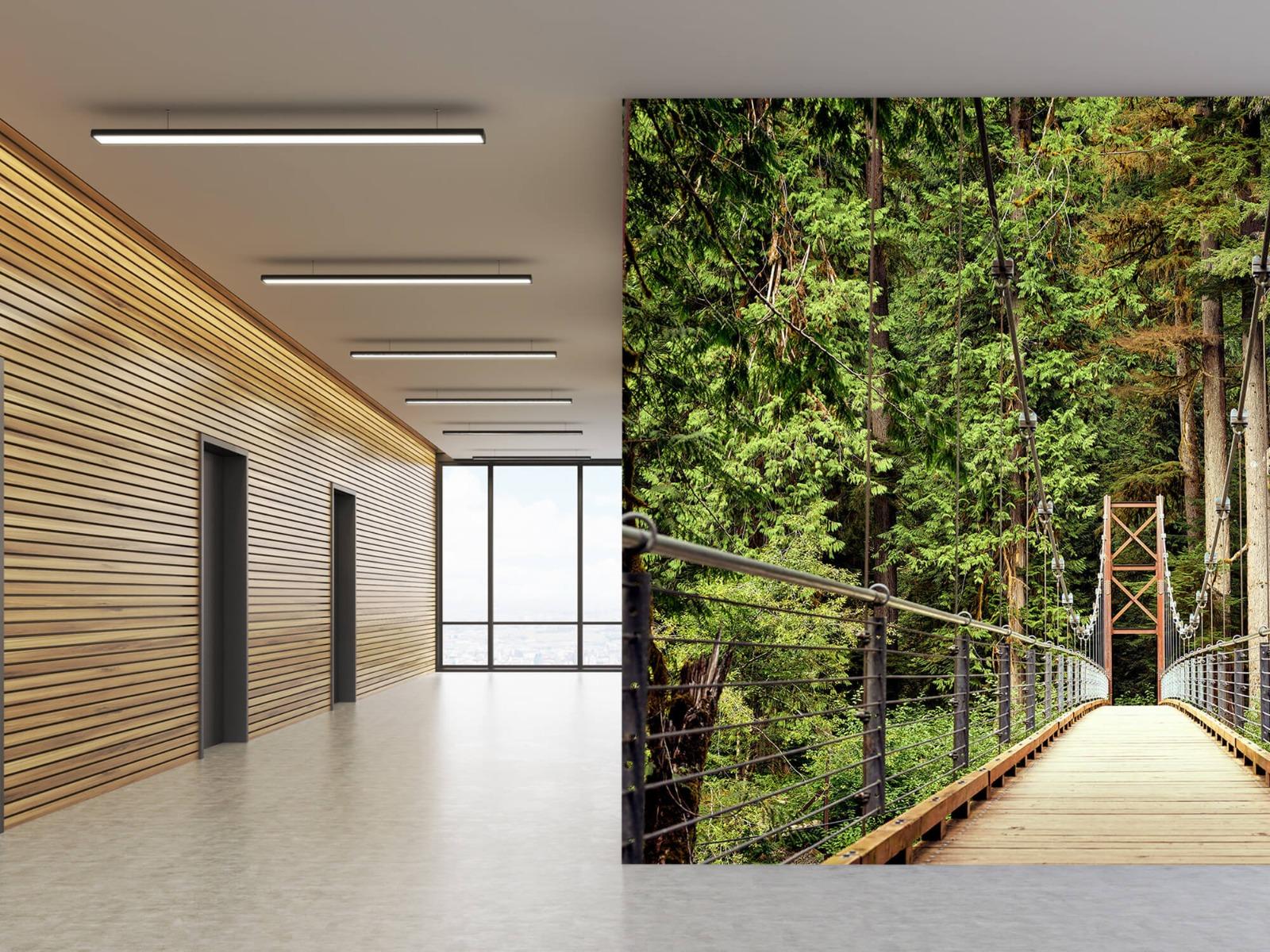 Bos behang - Brug door het bos - Slaapkamer 5