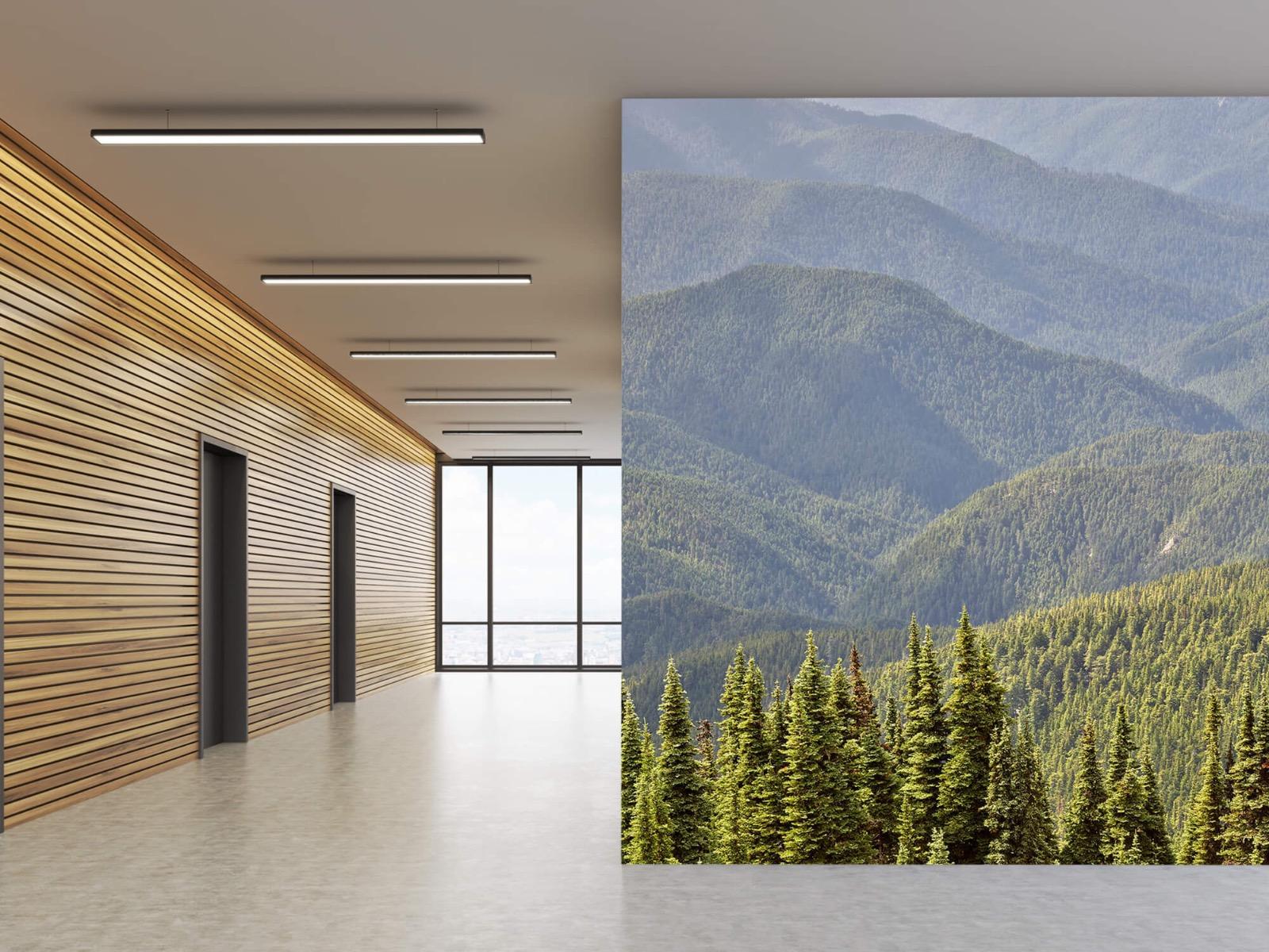 Landschap - Bergen met bomen - Wallexclusive - Woonkamer 5