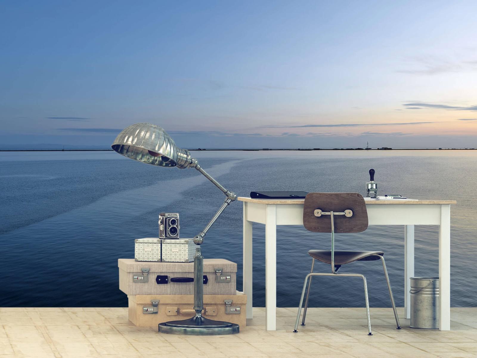 Zeeën en Oceanen - Zee en zonsopkomst - Wallexclusive - Woonkamer 2