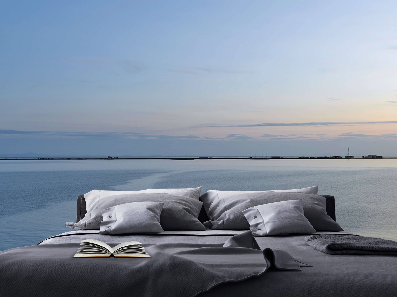 Zeeën en Oceanen - Zee en zonsopkomst - Wallexclusive - Woonkamer 17