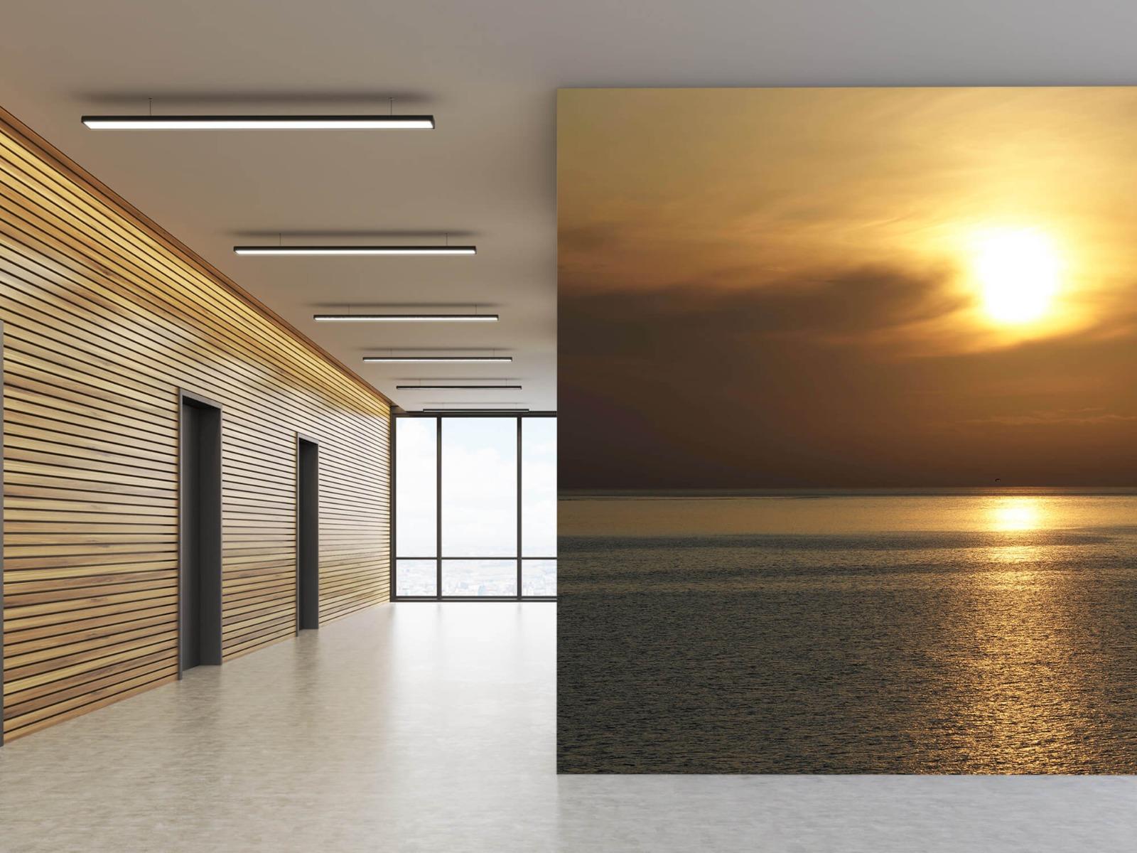 Zeeën en Oceanen - Zonsopkomst bij zee - Wallexclusive - Woonkamer 7