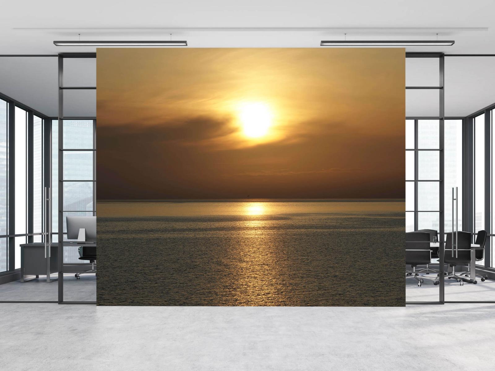 Zeeën en Oceanen - Zonsopkomst bij zee - Wallexclusive - Woonkamer 10