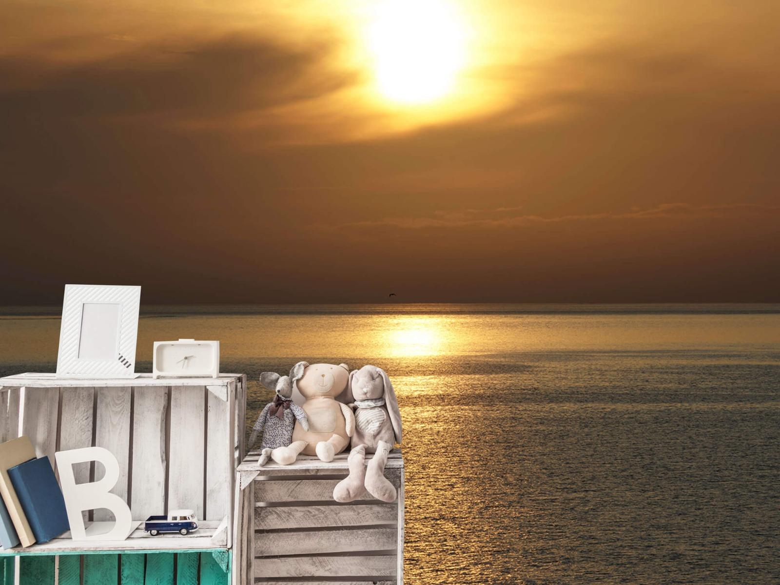 Zeeën en Oceanen - Zonsopkomst bij zee - Wallexclusive - Woonkamer 19